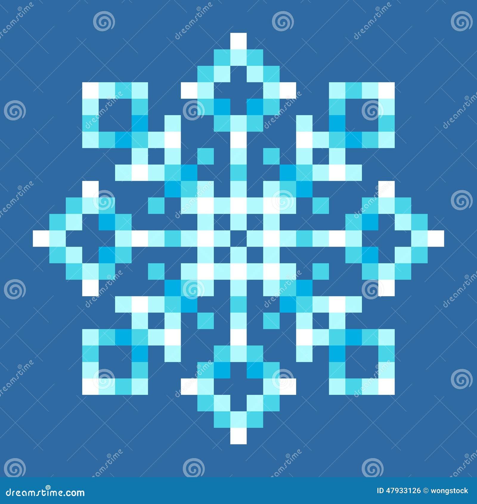Flocon De Neige 224 8 Bits De Pixel Illustration De Vecteur