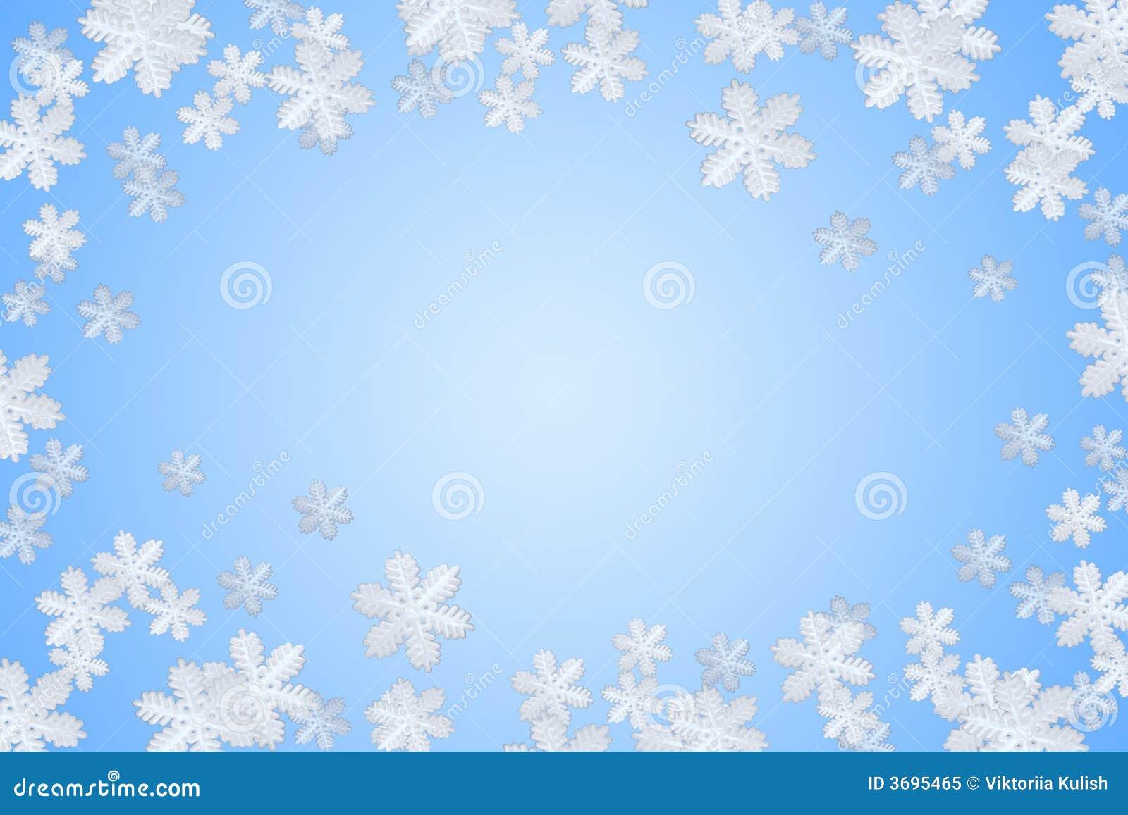 Flocon de neige bleu de l hiver