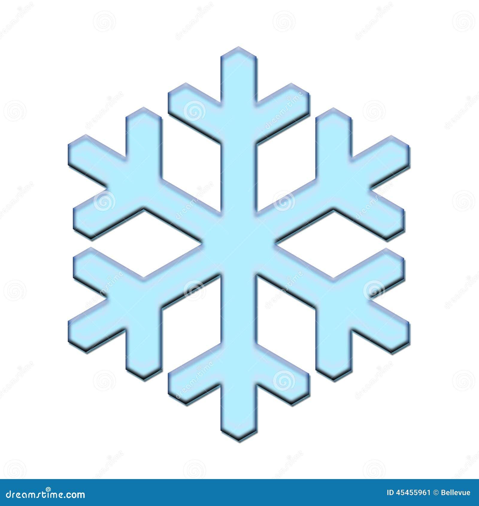 Flocon de neige d 39 isolement bleu illustration stock illustration du c l bration configuration - Dessiner un flocon de neige ...