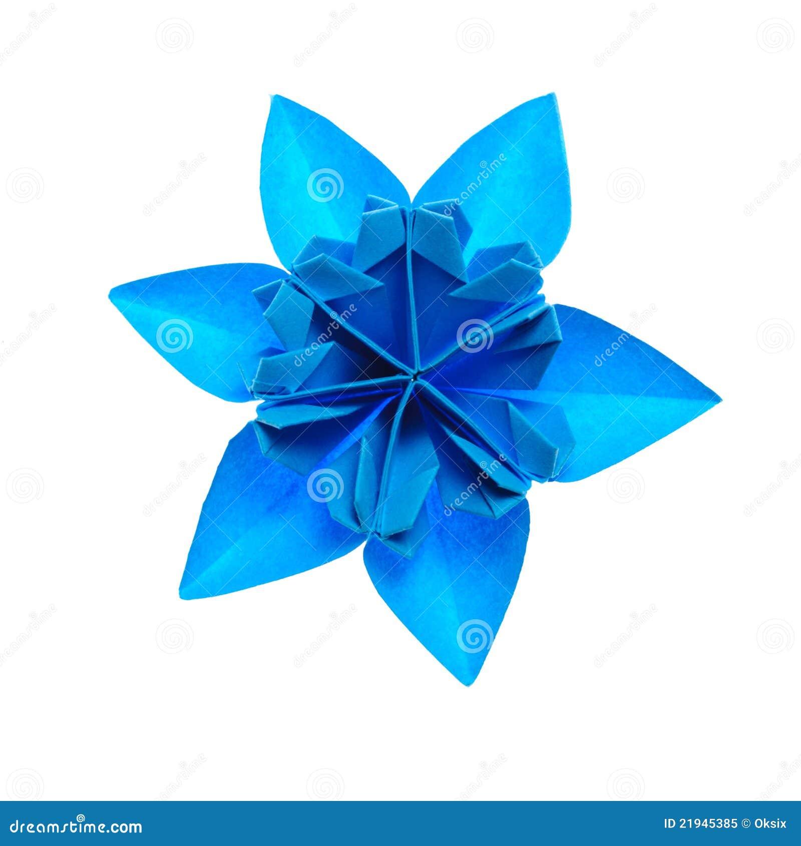 Flocon de neige d 39 origami photo libre de droits image 21945385 - Flocon de neige en papier origami ...