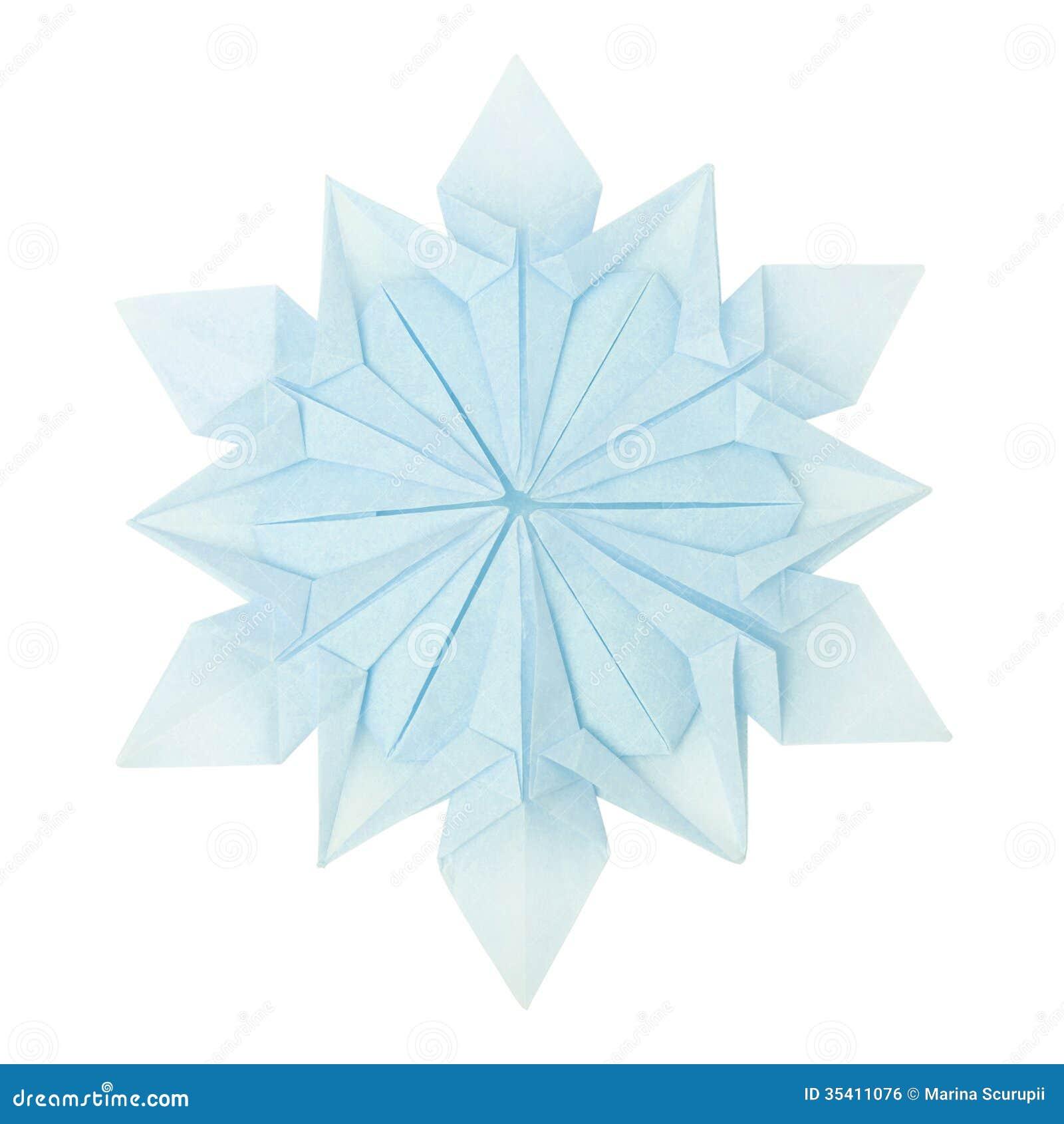 Flocon de neige d 39 origami image libre de droits image 35411076 - Flocon de neige en papier origami ...