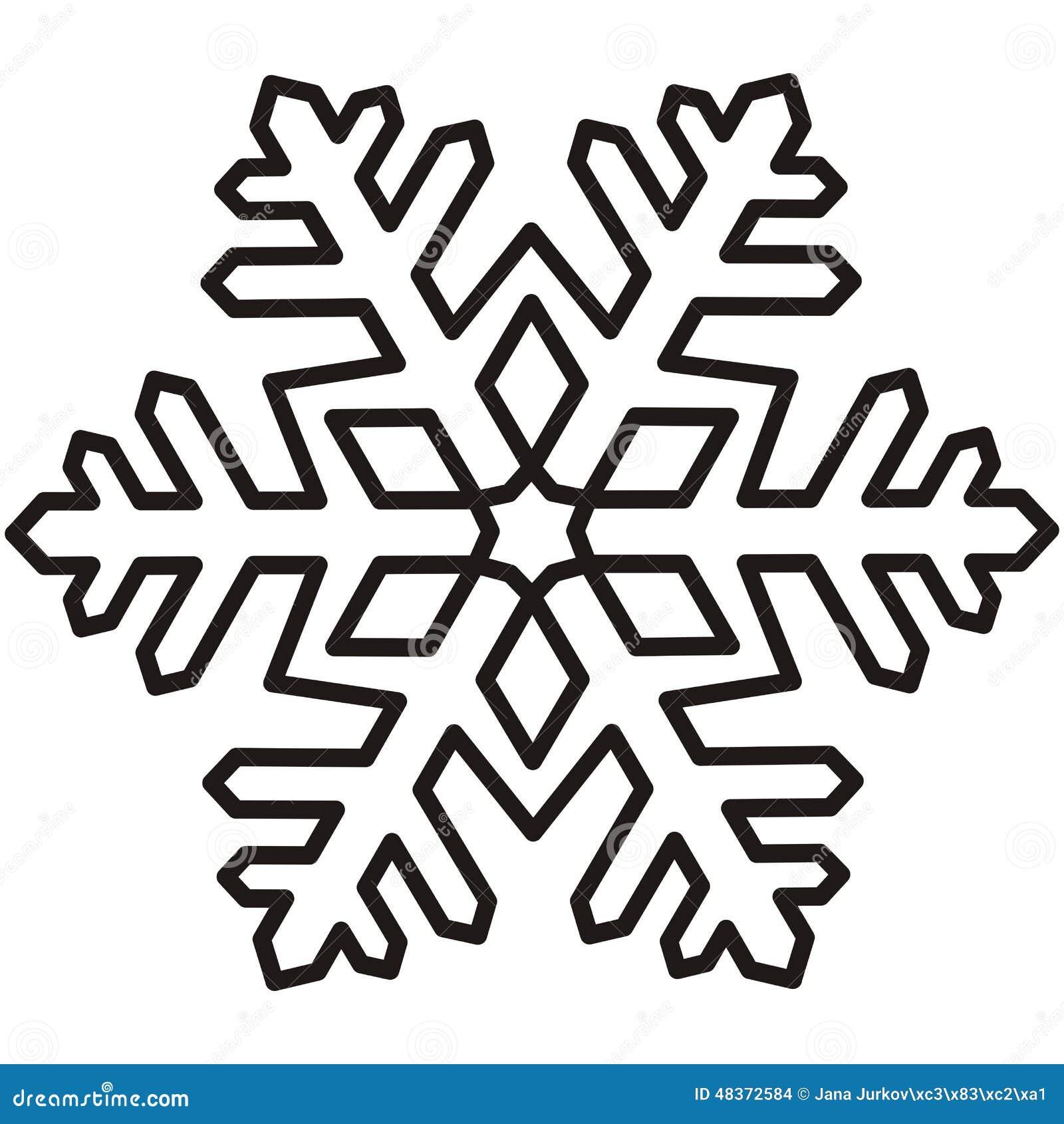 Flocon de neige d coupe illustration de vecteur image 48372584 - Gabarit flocon de neige a decouper ...