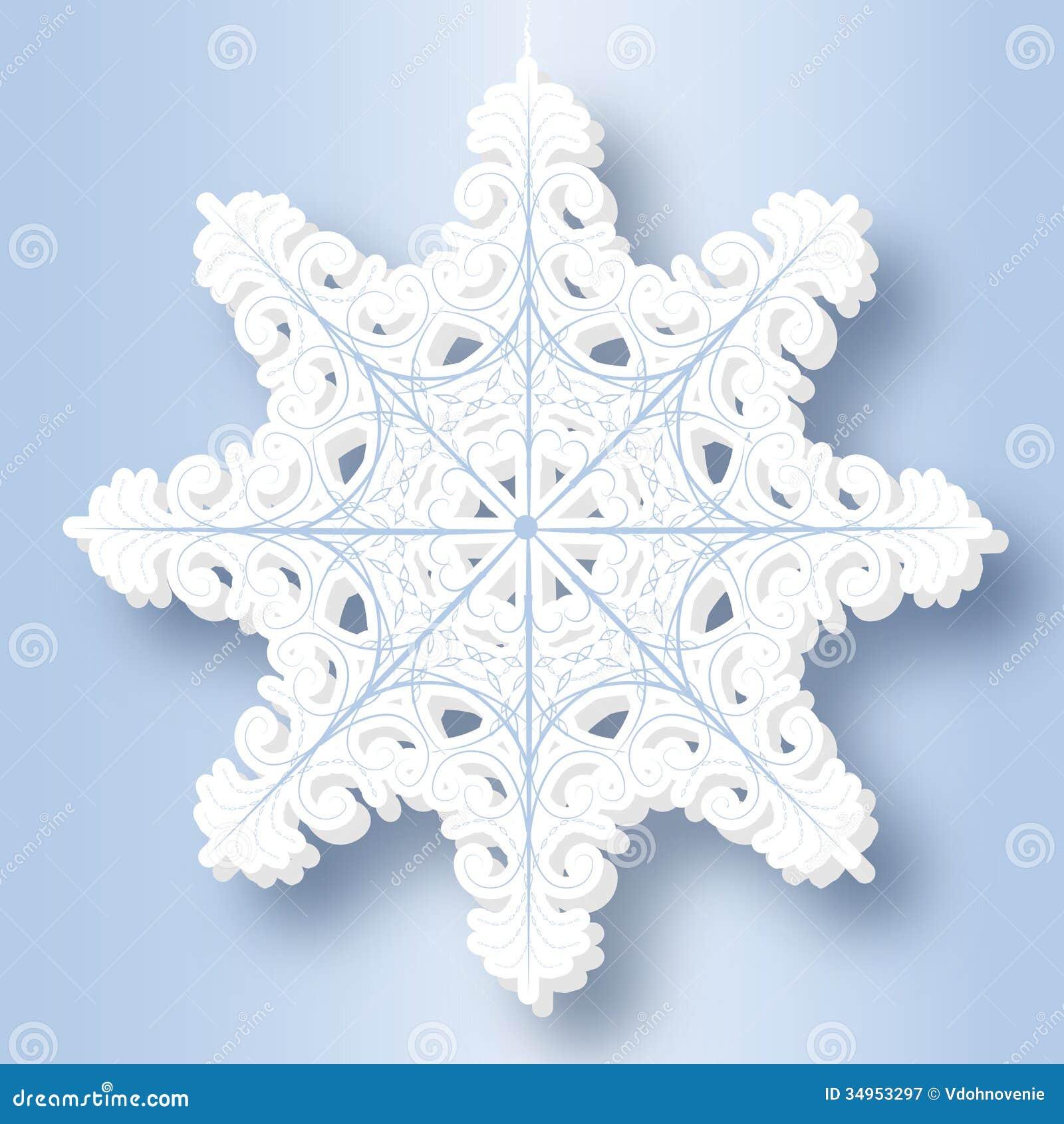 flocon de neige de papier photographie stock libre de droits image 34953297. Black Bedroom Furniture Sets. Home Design Ideas