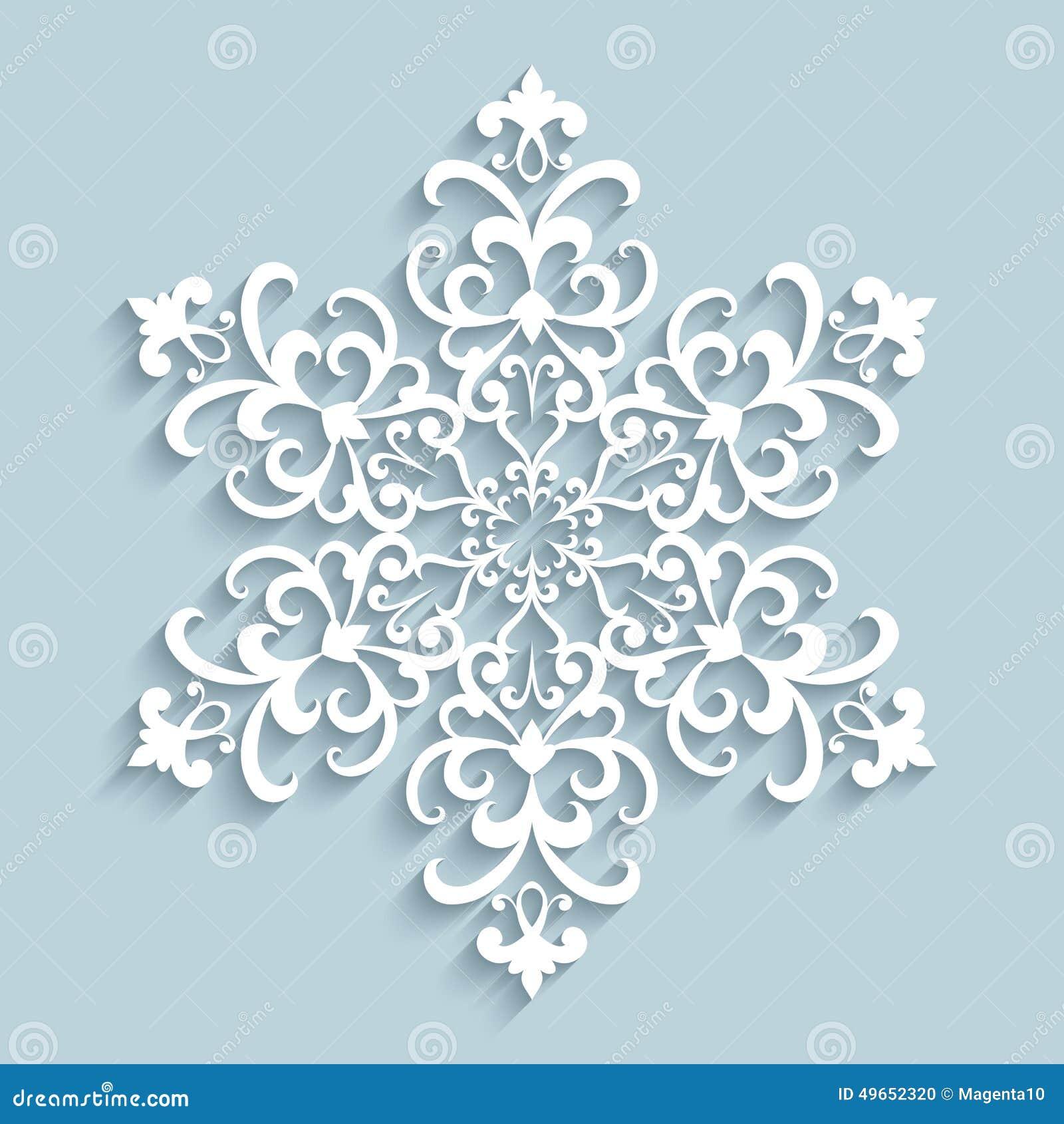flocon de neige de papier de dentelle illustration de vecteur image 49652320. Black Bedroom Furniture Sets. Home Design Ideas
