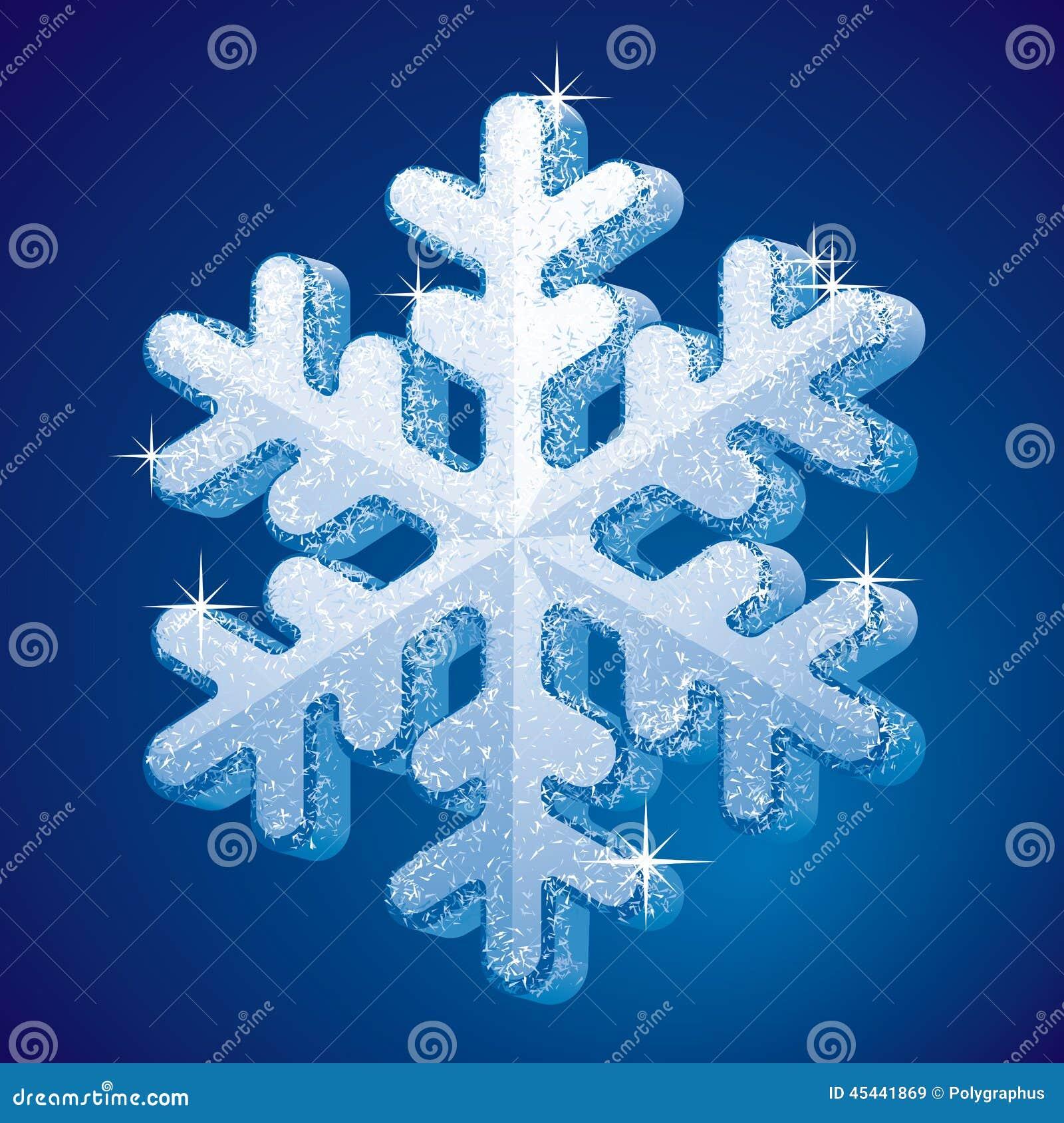 Flocon de neige givr illustration de vecteur image du saison 45441869 - Gabarit flocon de neige a decouper ...