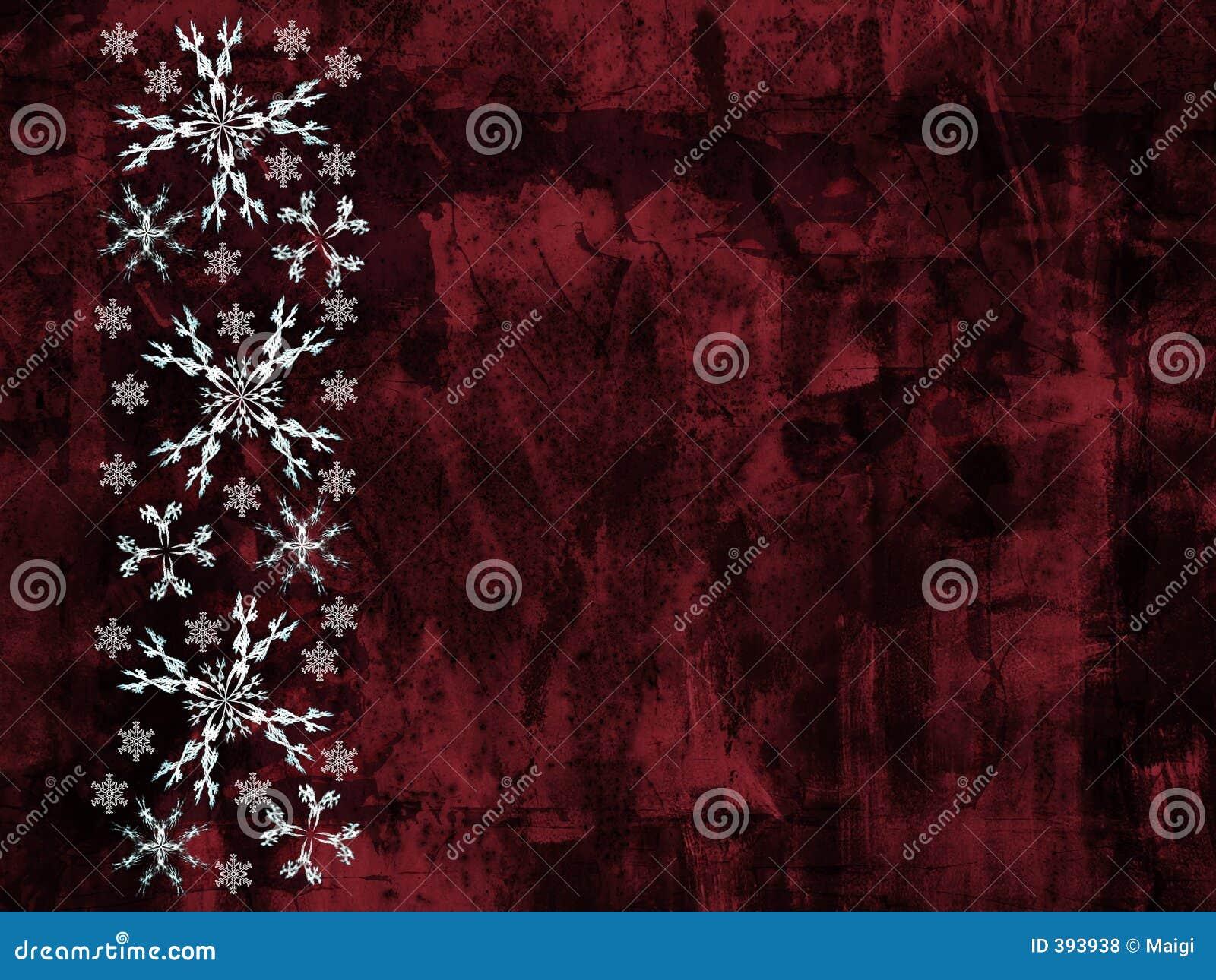 Flocons de neige de grunge de fond
