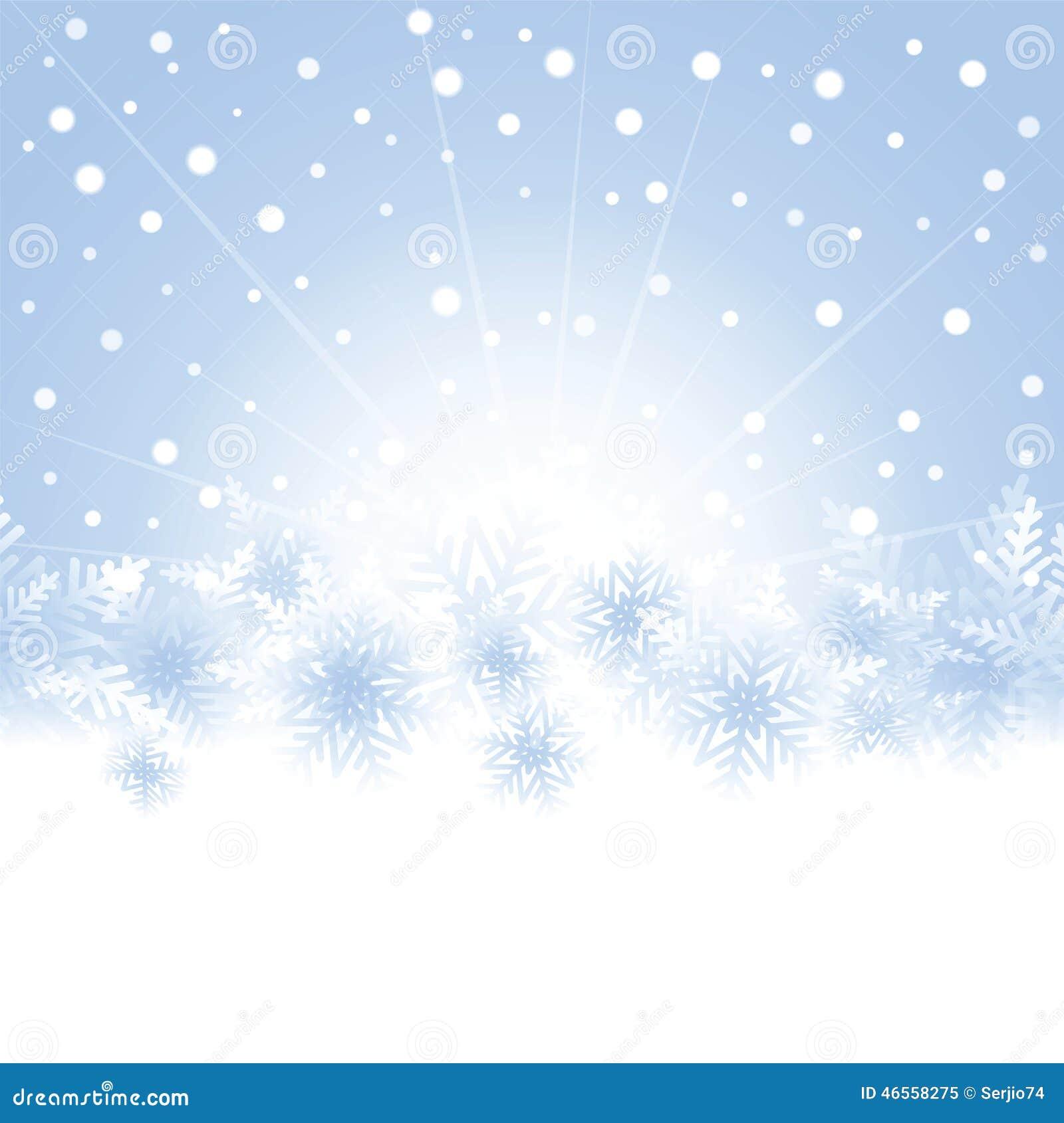 Flocons de neige de no l sur le fond bleu de la carte de voeux illustration de vecteur image - Motif carte de voeux ...