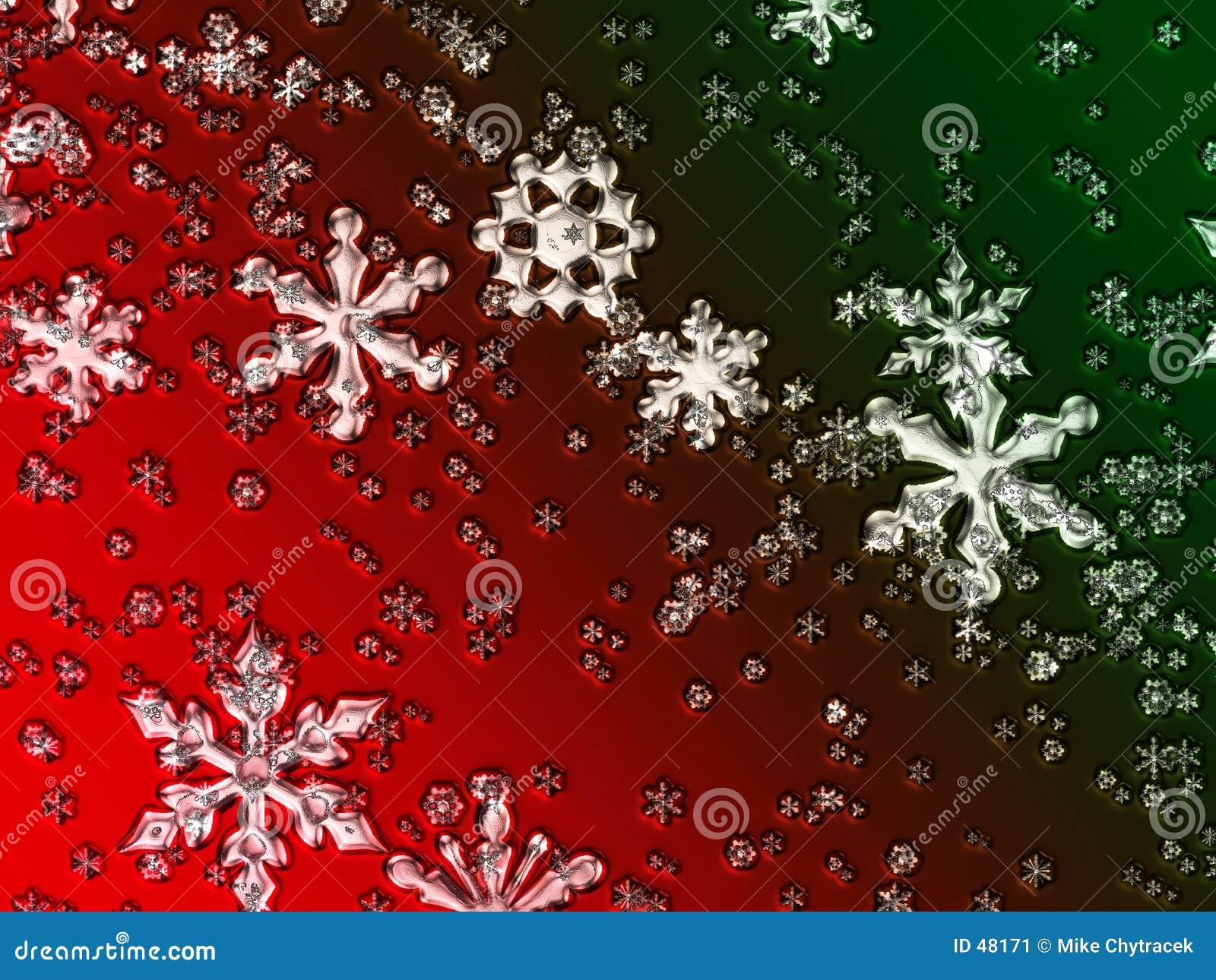 Flocos de neve de vidro do Natal