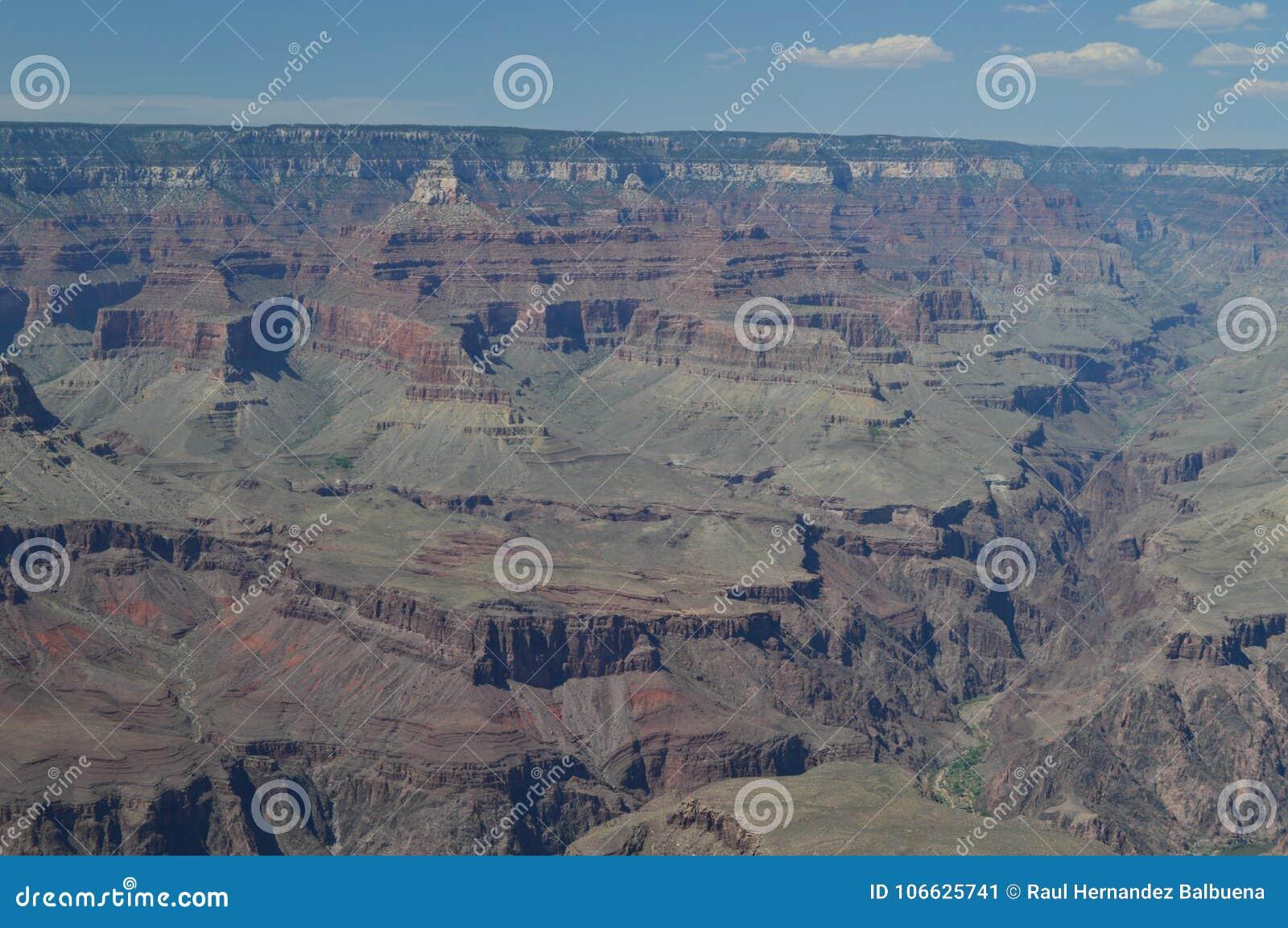 Flod för kanjoncolorado tusen dollar E geologiska bildande