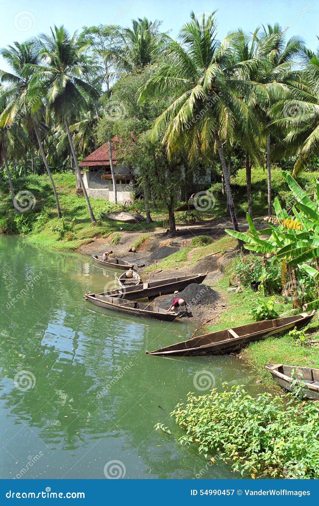 Flod Pangandaran, Indonesien