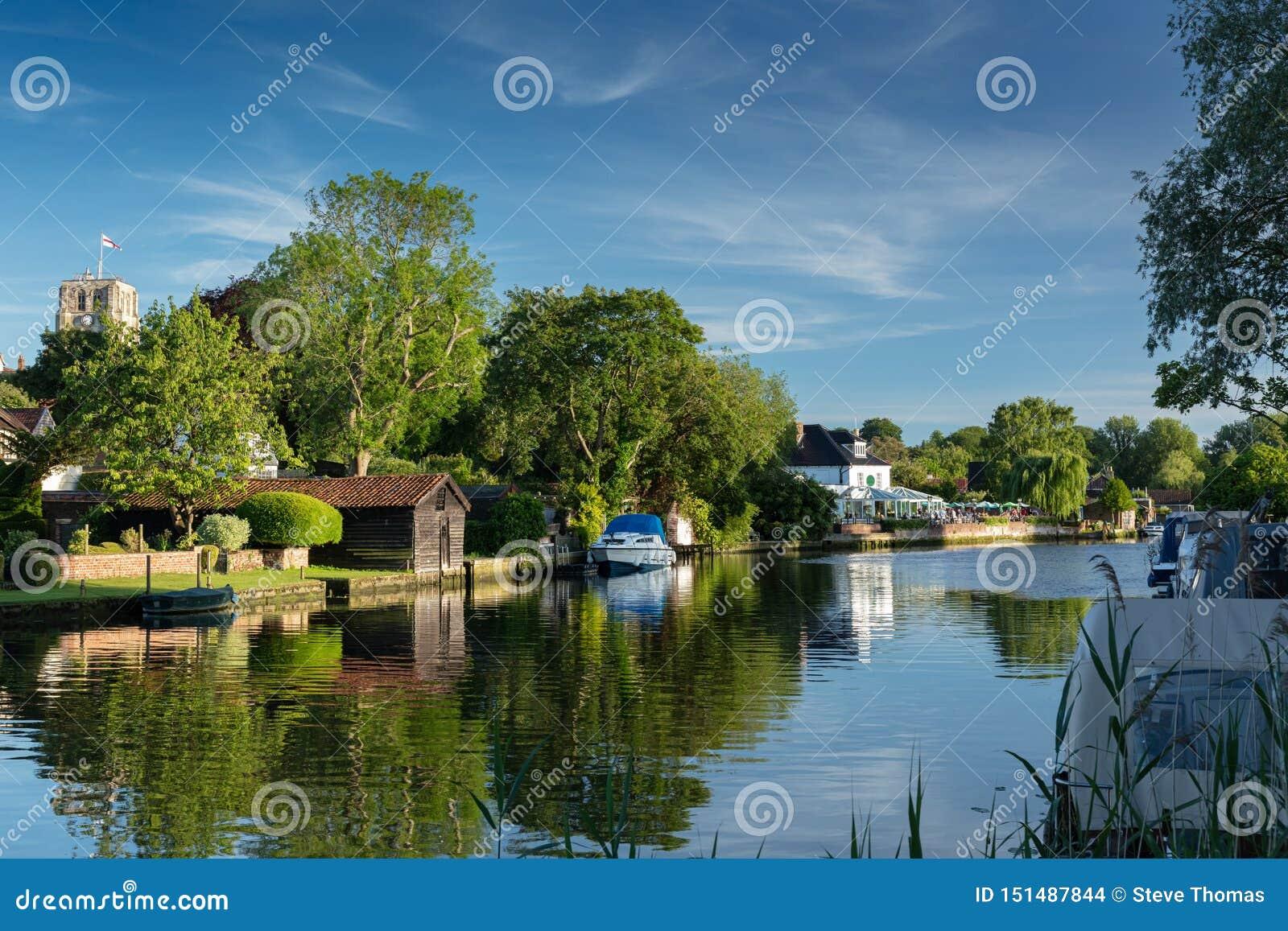 Flod Waveney, Beccles, UK, Juni 2019