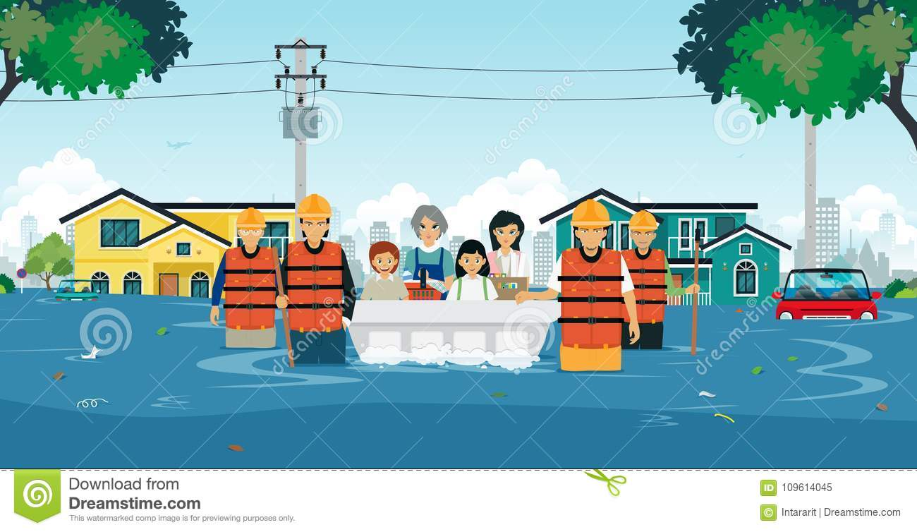 Flood Cartoons Illustrations Amp Vector Stock Images 7919