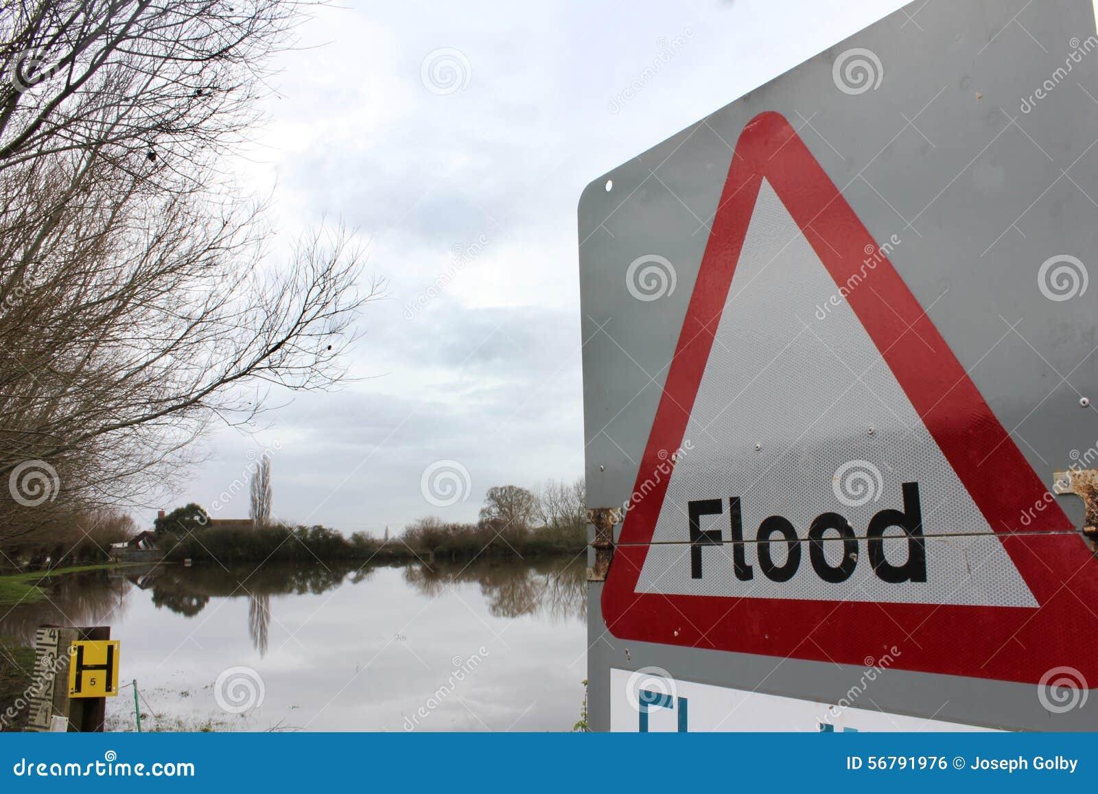 Flood Sign Warning by Flood