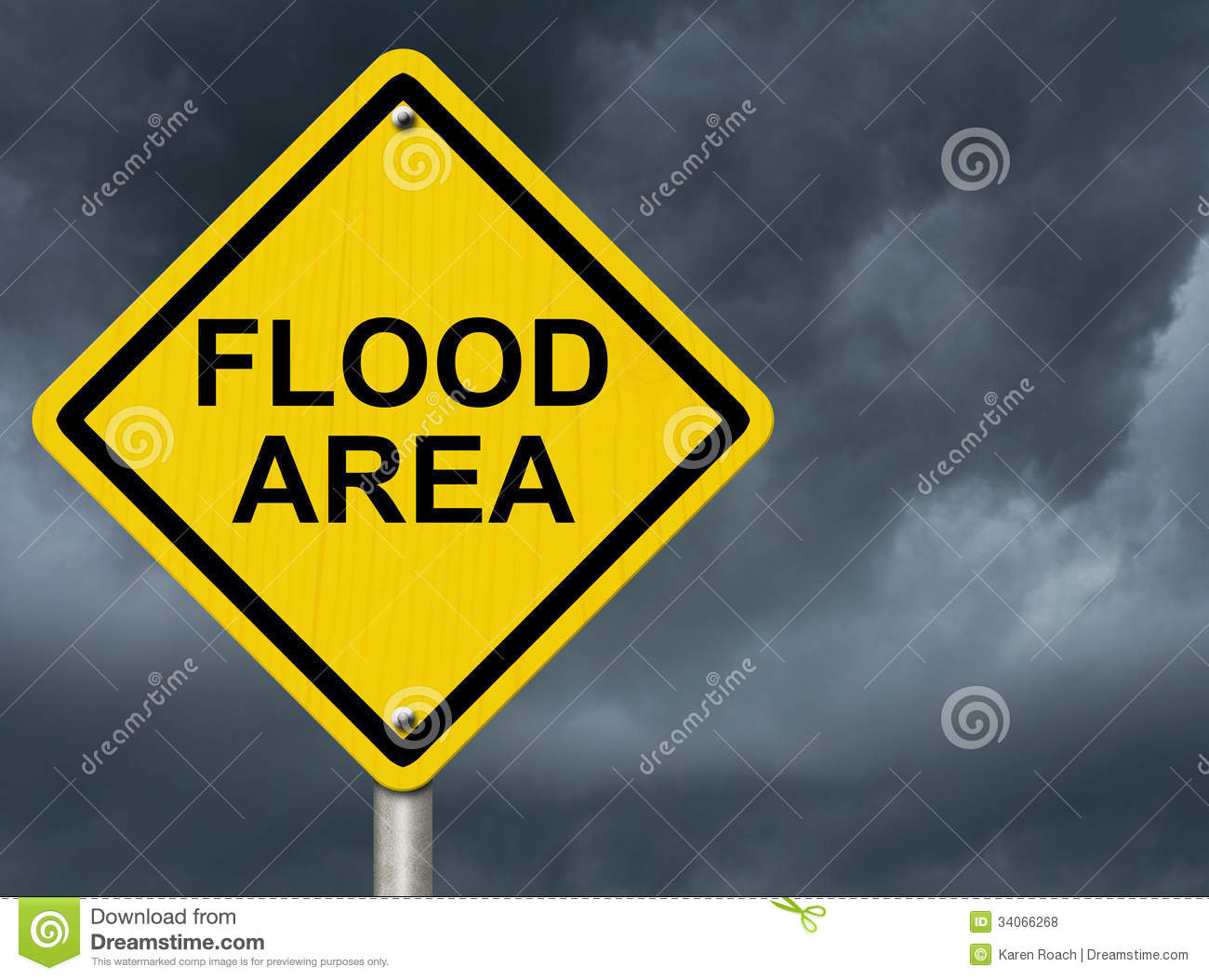 Flood Warning Royalty Free Stock Photos Image 34066268