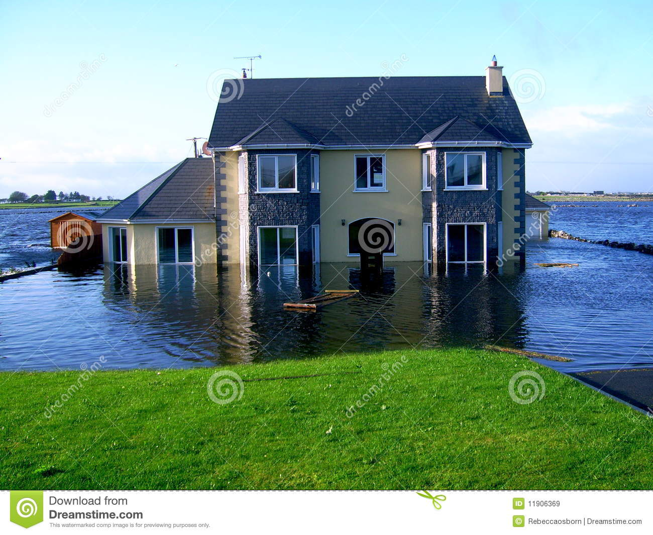 Flooded family home royalty free stock images image for Family home