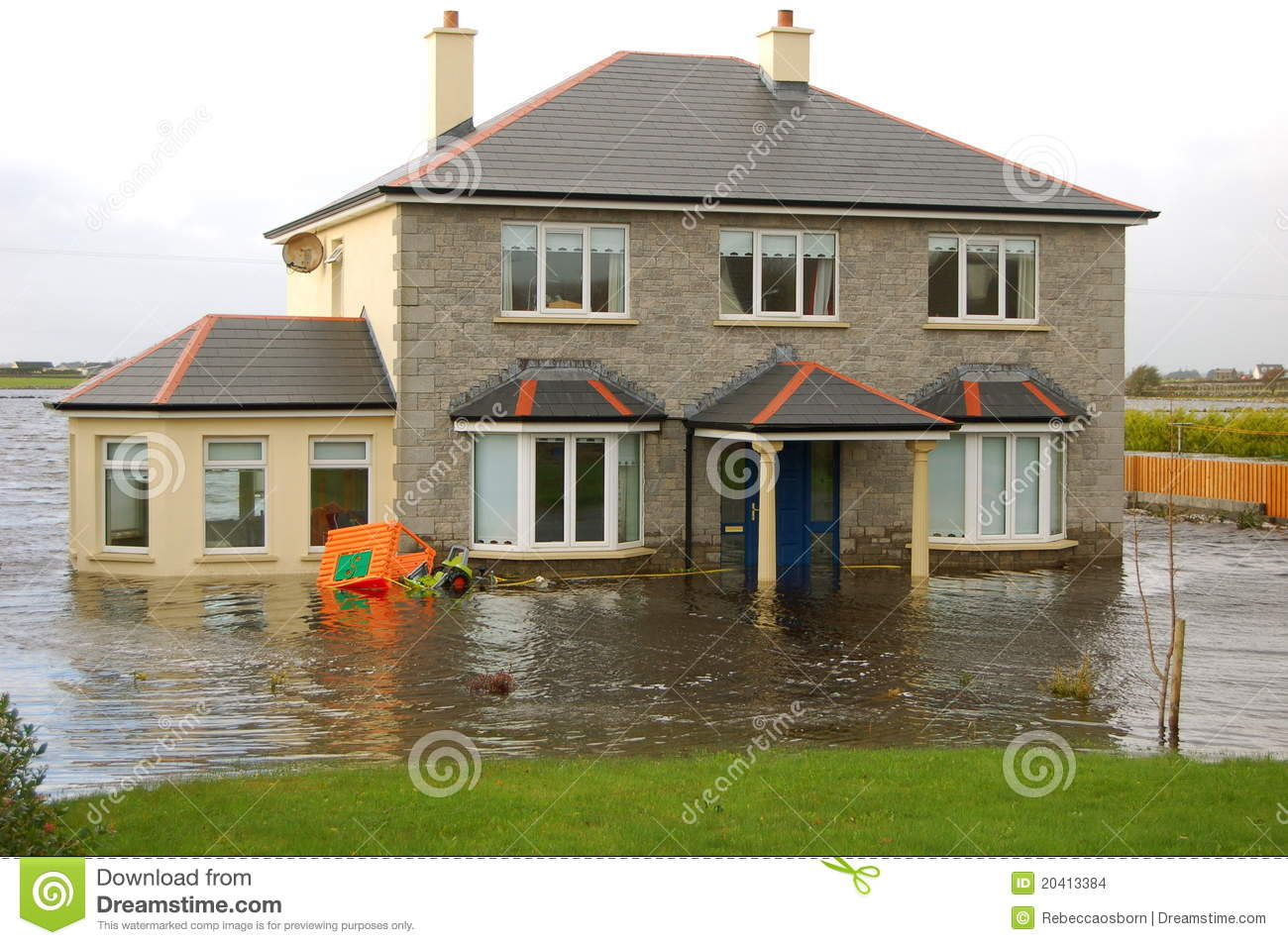 Flooded House Stock Images Image 20413384