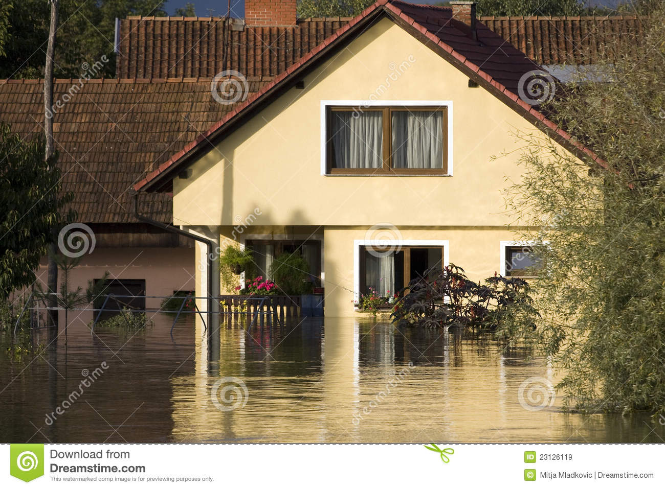 Flooded House Royalty Free Stock Images Image 23126119