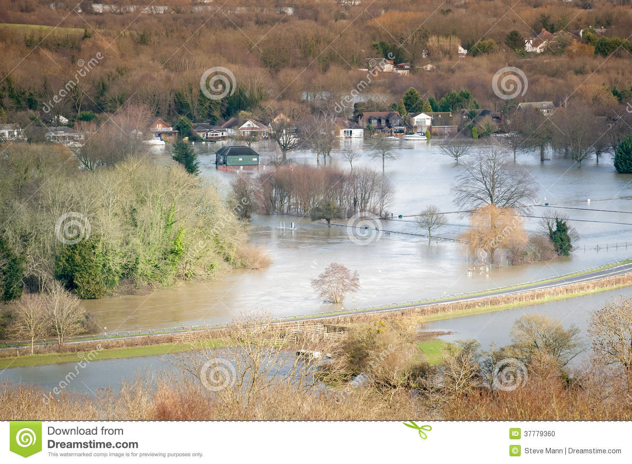 Flooded landscape