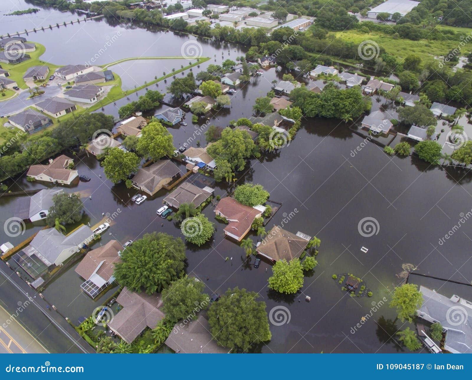 Flooded Neighborhood Corner in Sarasota, FL