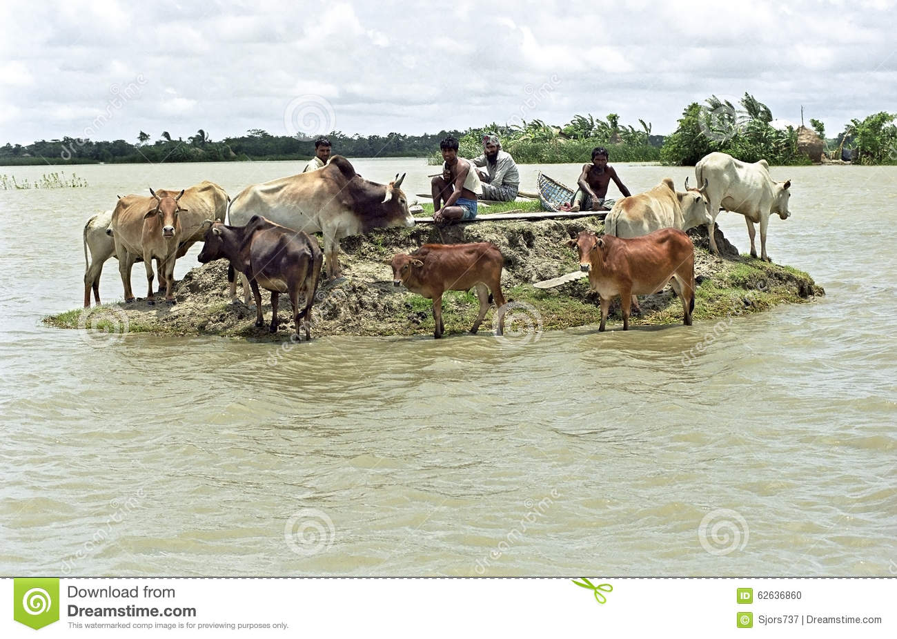 Flooding in the delta Bangladesh, climate changes