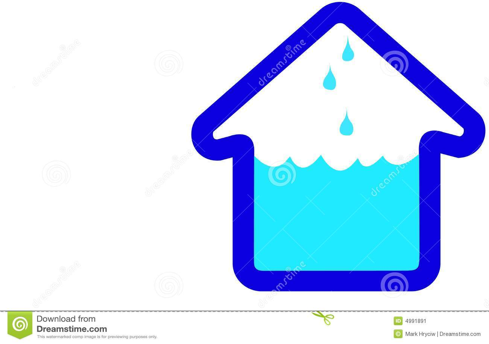 Flooding House Home Icon Stock Image Image 4991891