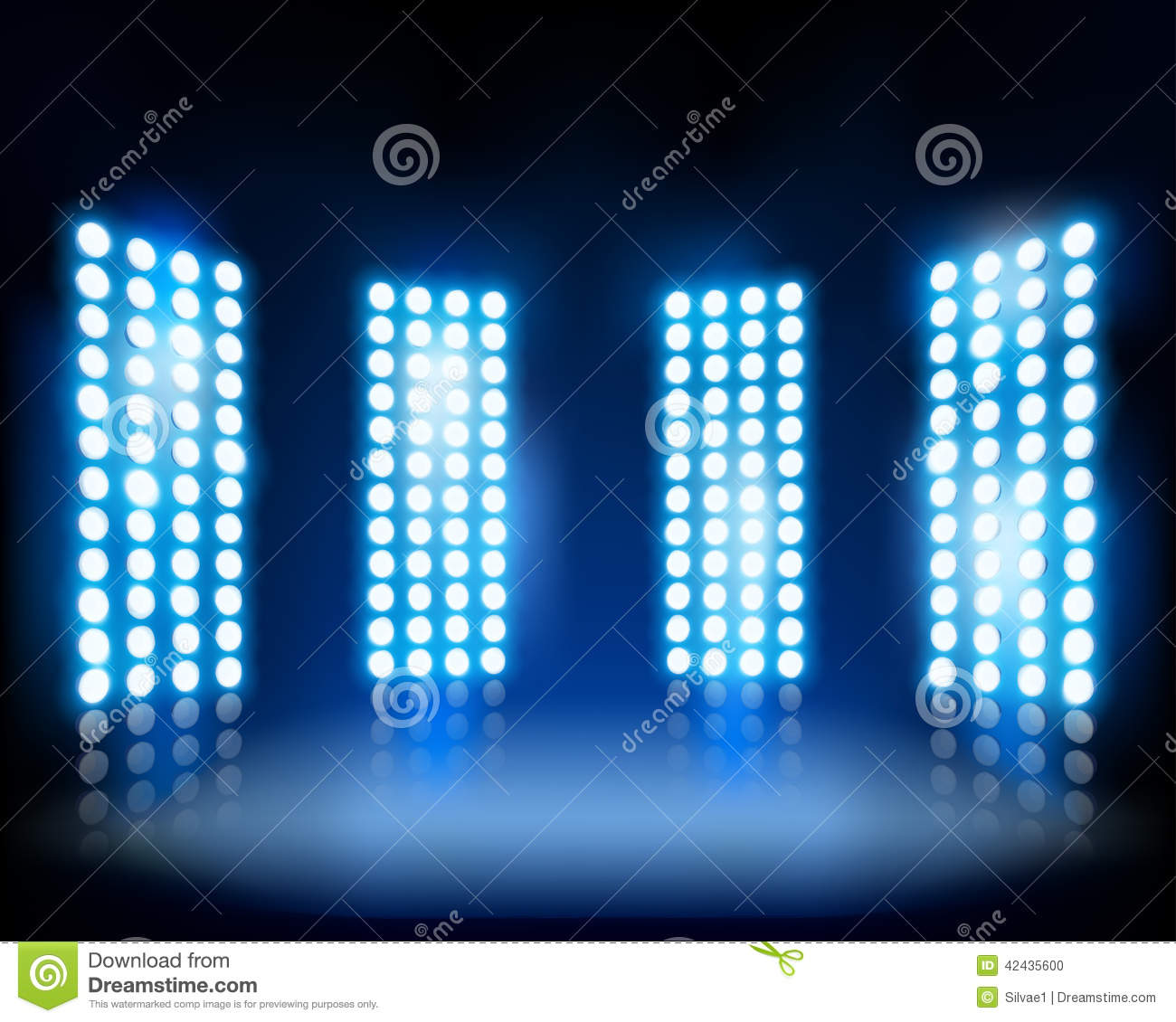 floodlights  vector illustration  stock illustration