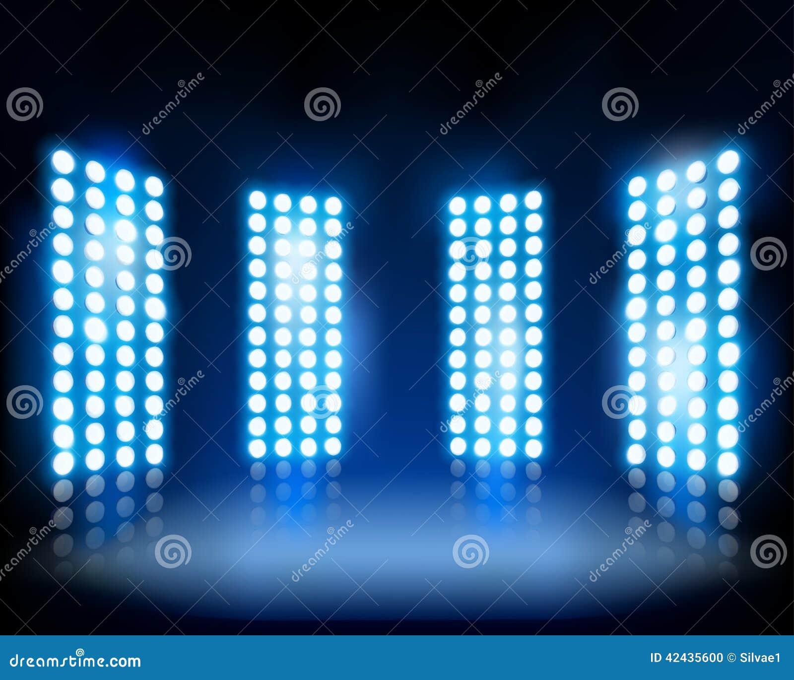 Stadium Lights Svg: Floodlights. Vector Illustration. Stock Illustration