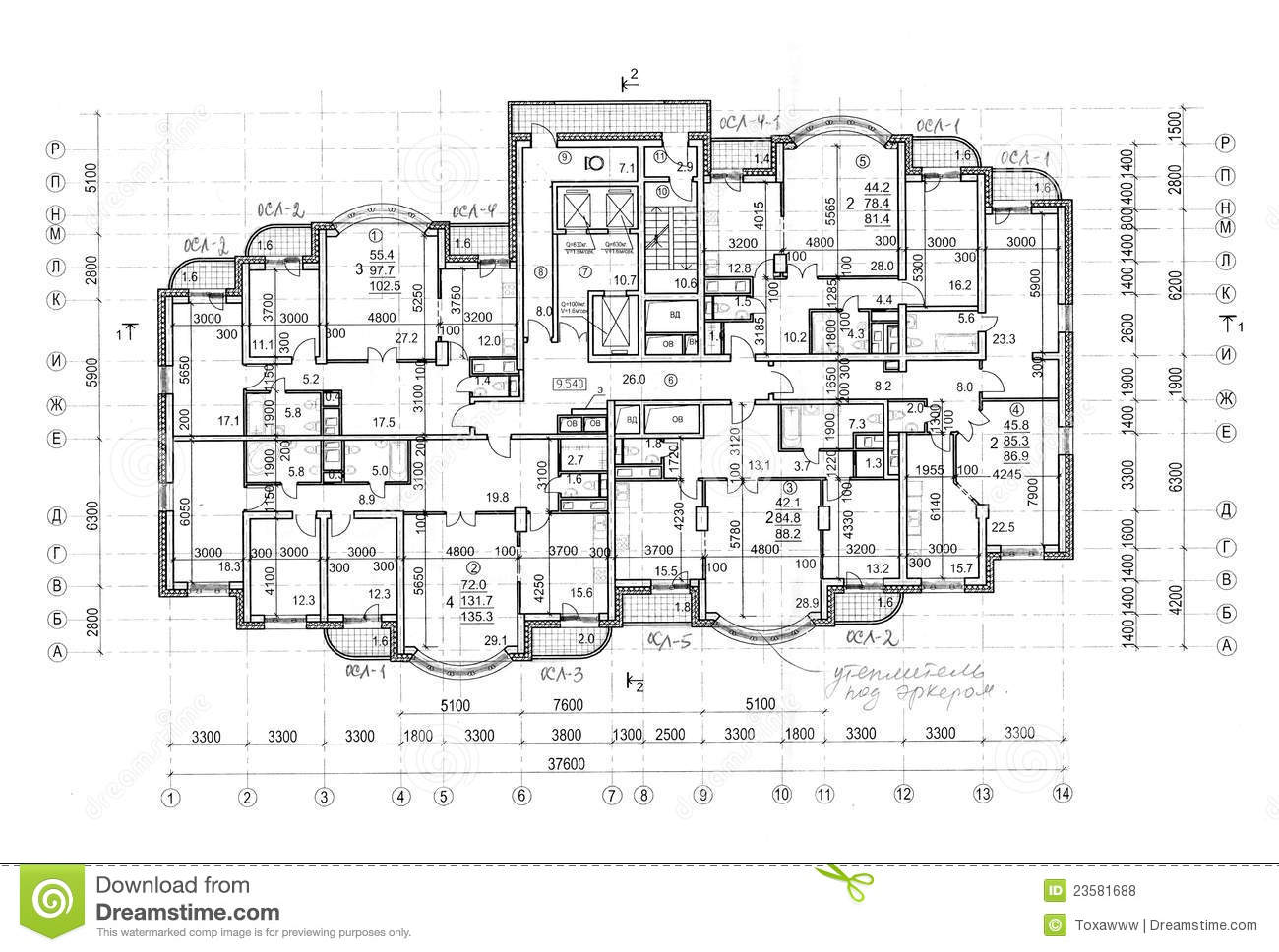 Floor architectural construction plan stock photo image for Construction plan drawing