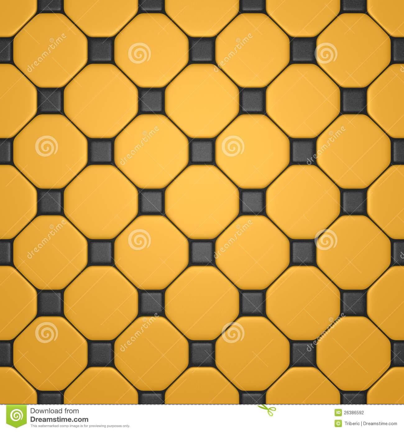 Floor With Gray And Yellow Tiles Stock Photography Image