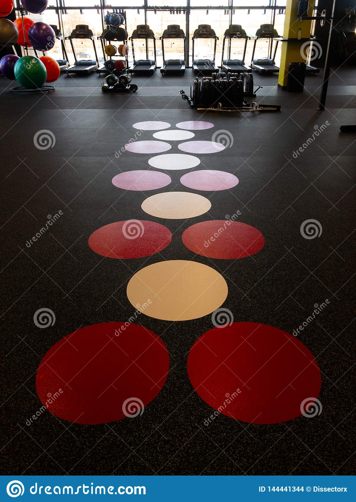 Floor of a gym in a new sport club