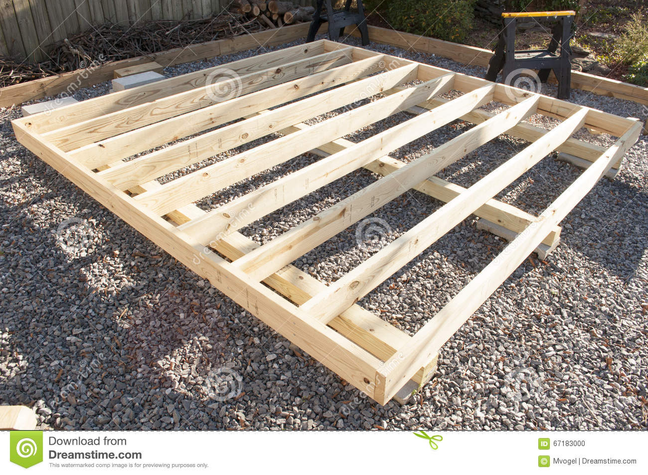 Floor joist construction stock photo image of for Wood floor joist construction