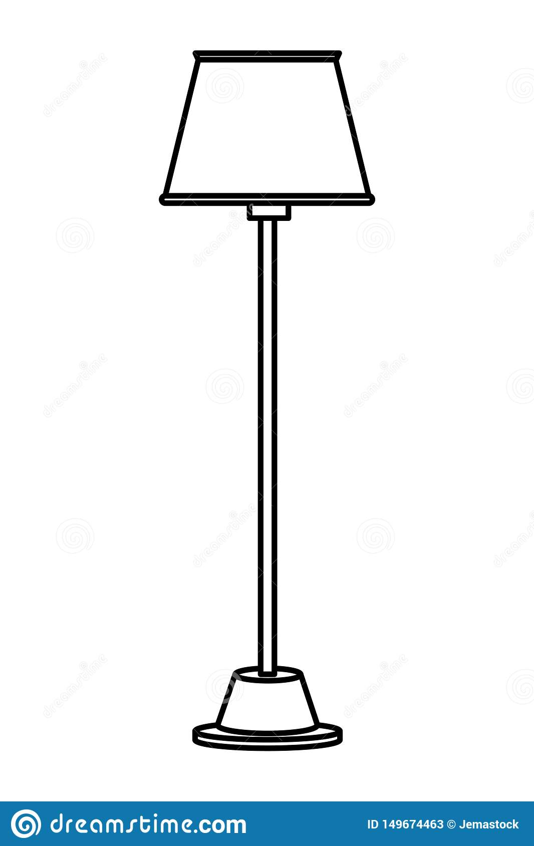 Picture of: Floor Lamp Icon Cartoon Isolated Black And White Stock Vector Illustration Of Floor Metal 149674463