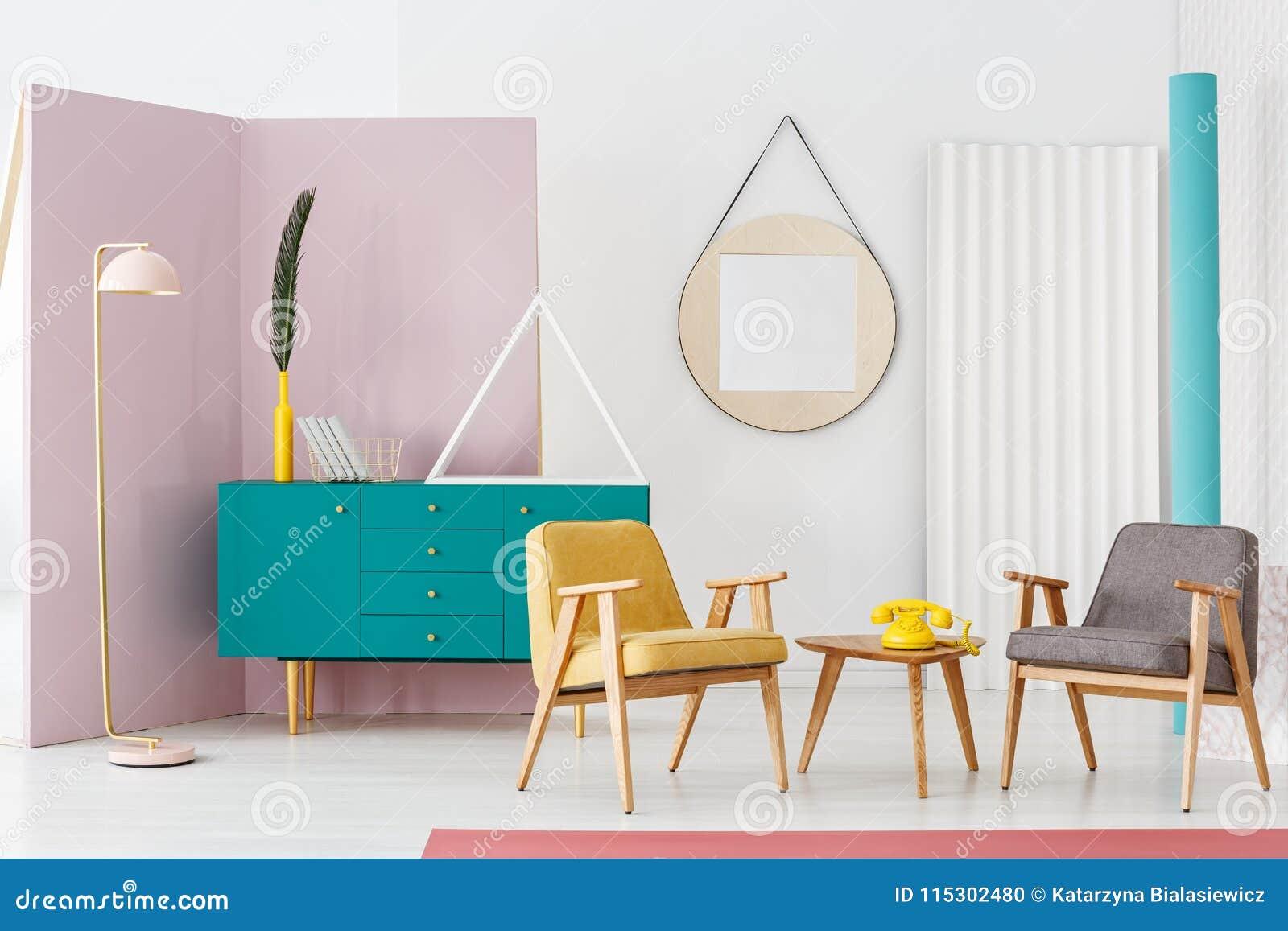 floor lamp in retro interior stock photo image of hipster rh dreamstime com
