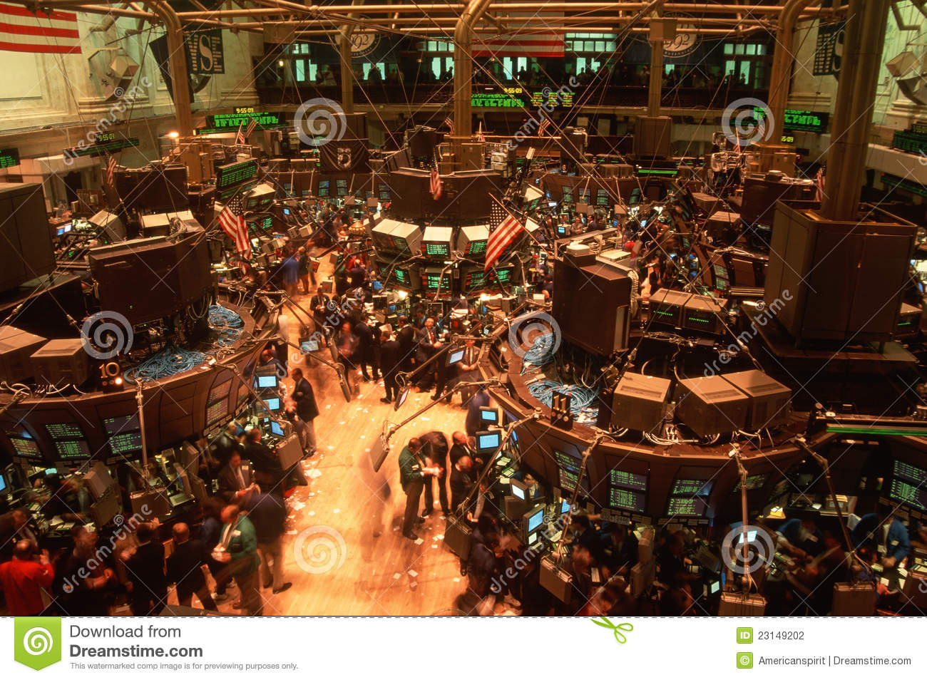 Floor Of New York Stock Exchange Editorial Photography