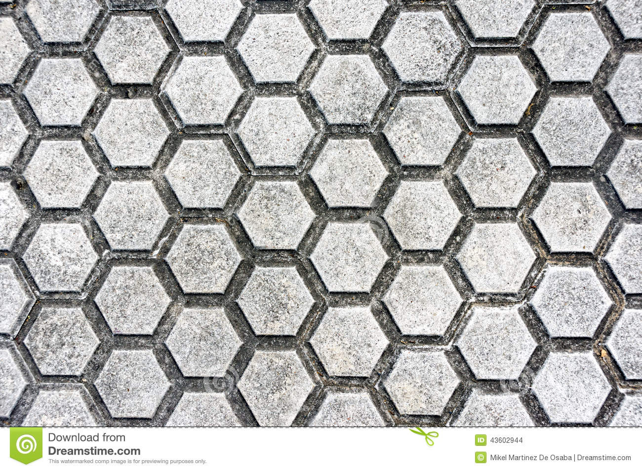 Floor With Paving Stones And Hexagon Shapes Stock Photo