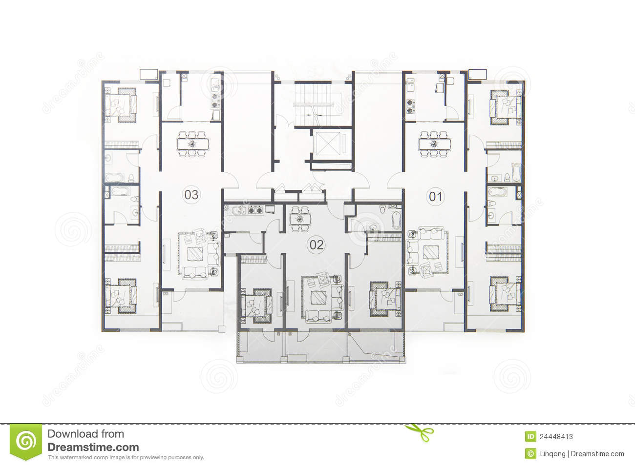Floor plan project technical drawing construction for Floor plan project