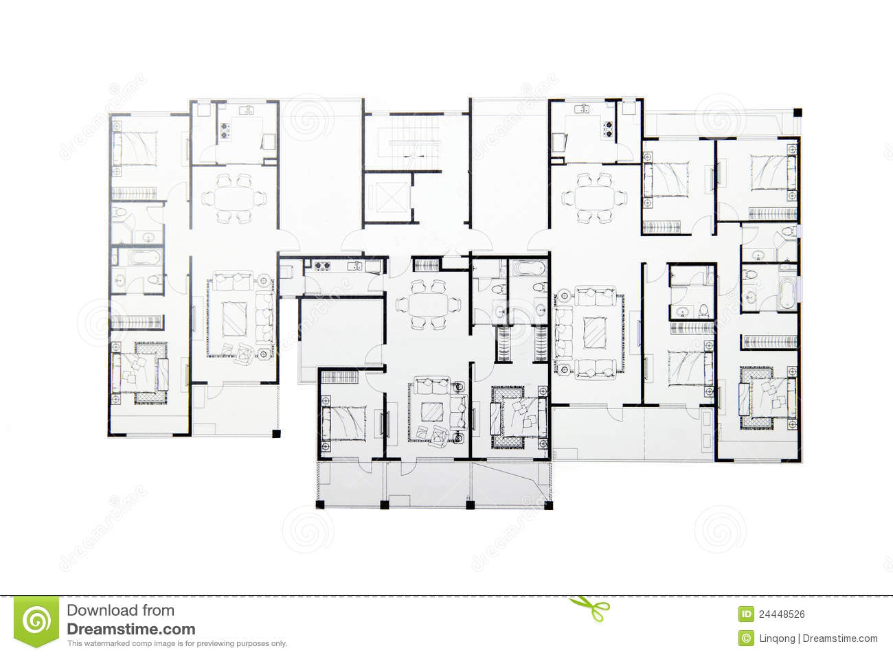 Floor plan stock photo image of bedroom plan bathroom for Stock floor plans