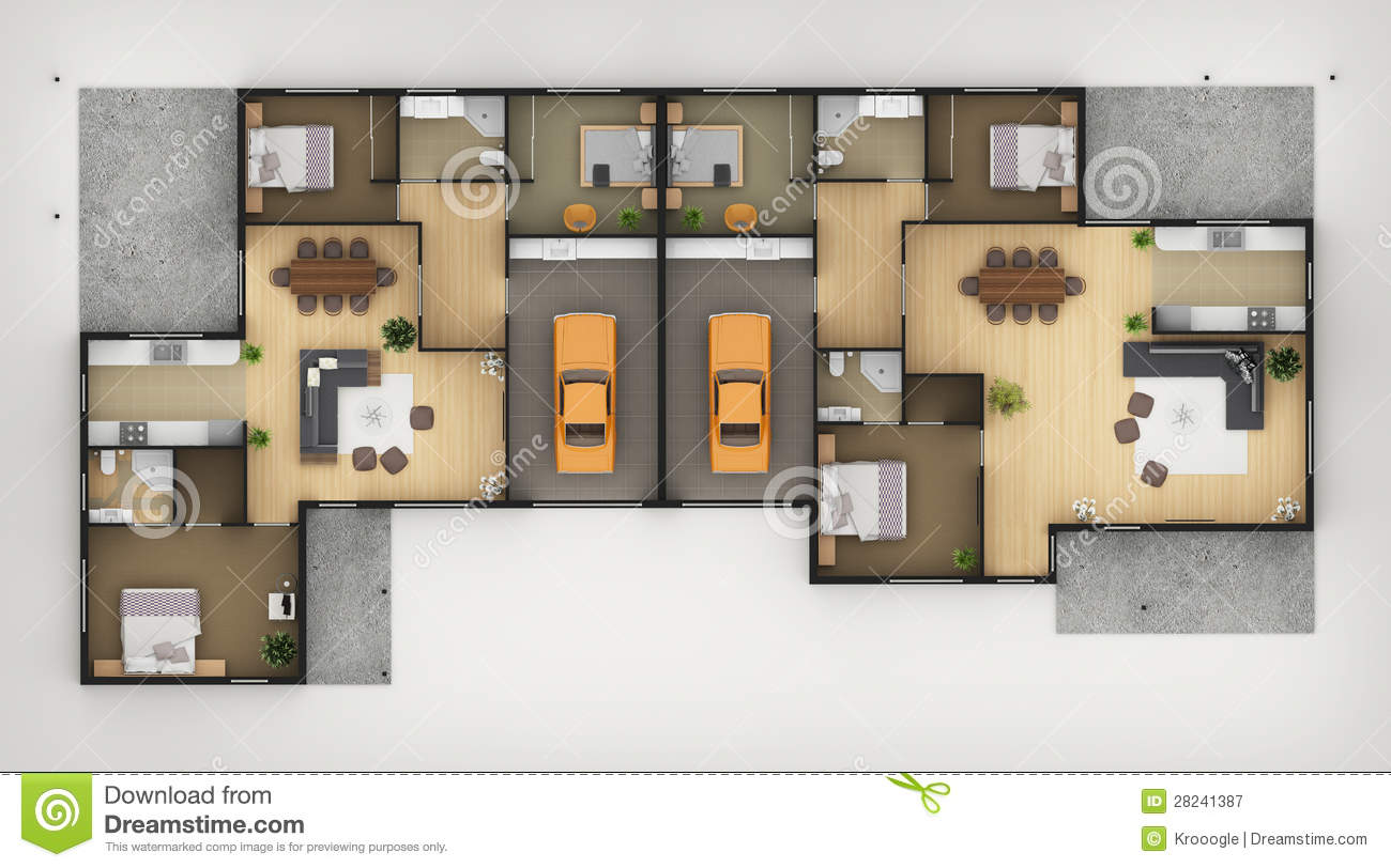 Floor plan royalty free stock photography image 28241387 Floor plan view