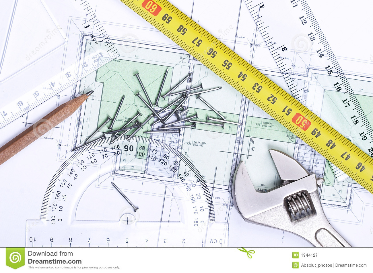 Floor Plan From Above Royalty Free Stock Photography