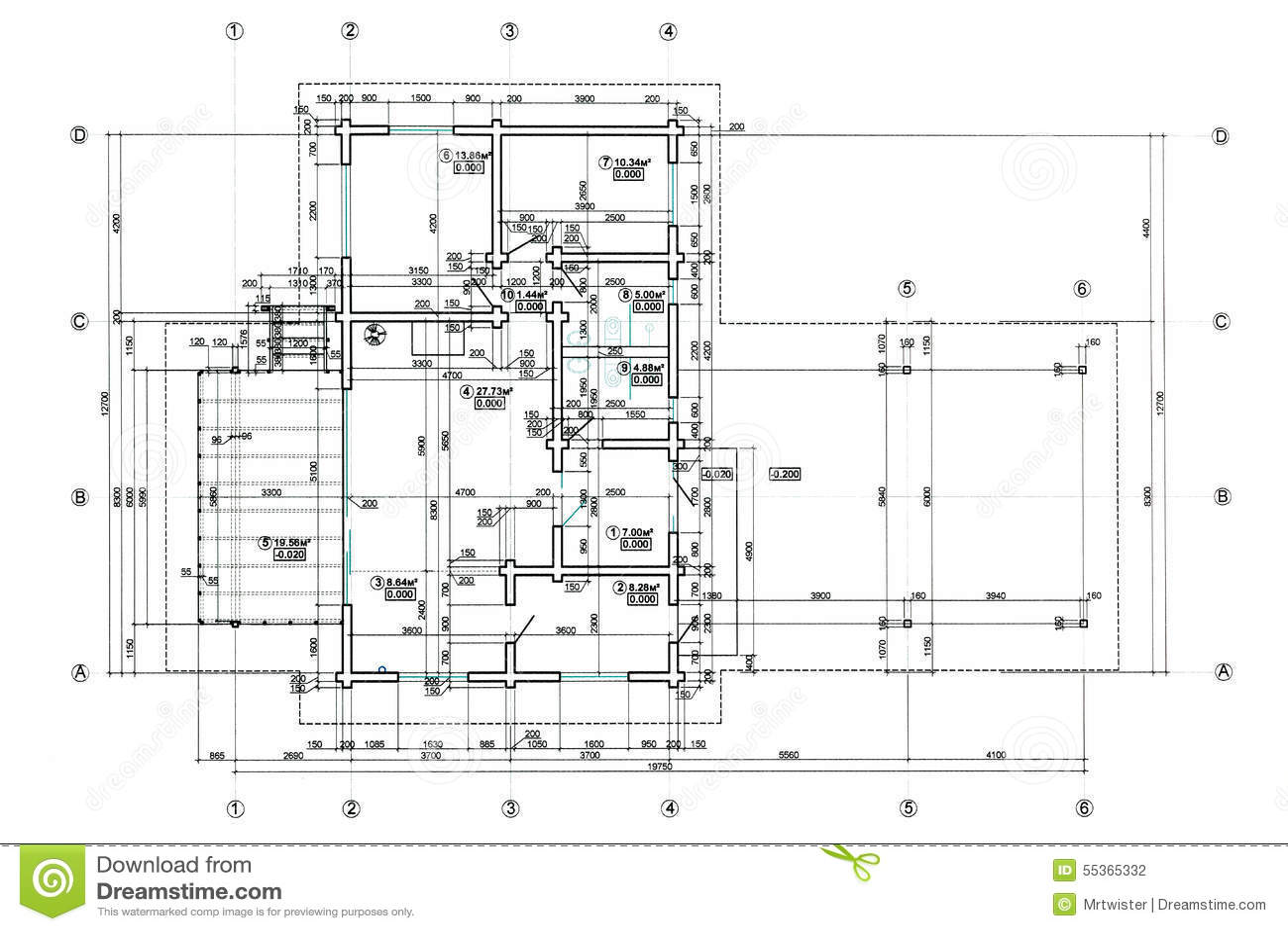 Floor Plan Blueprint Stock Illustration Image Of Business