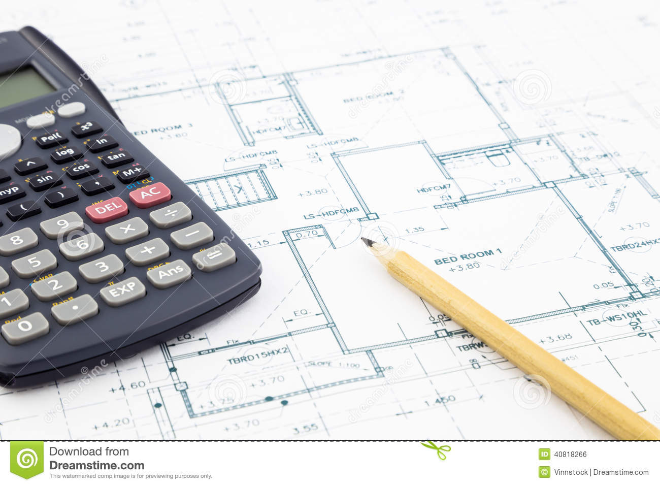 Floor plan and calculator stock photo image 40818266 for Floor plan cost estimator