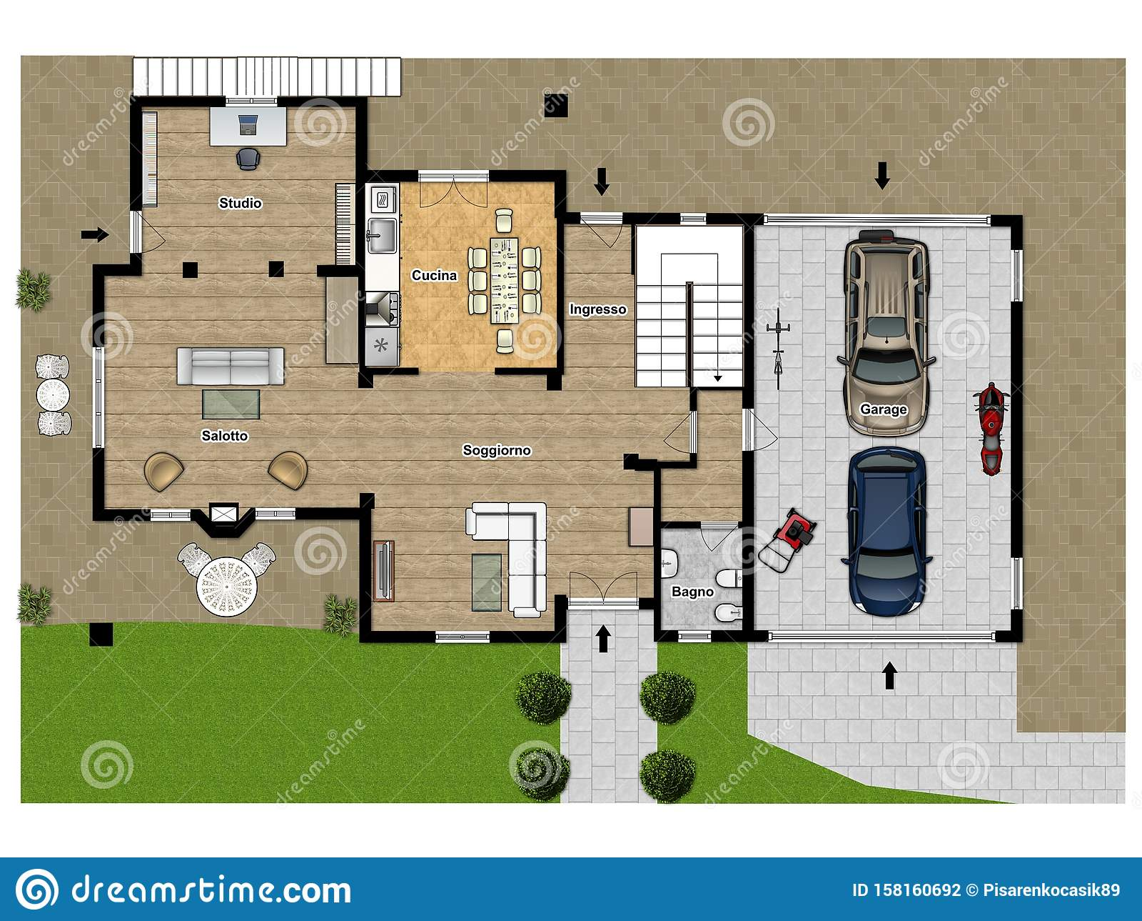 Floor Plan Color Floor Plans 2d 2d Illustration Floor Plan Stock Photo Image Of Floorplan Autocad 158160692