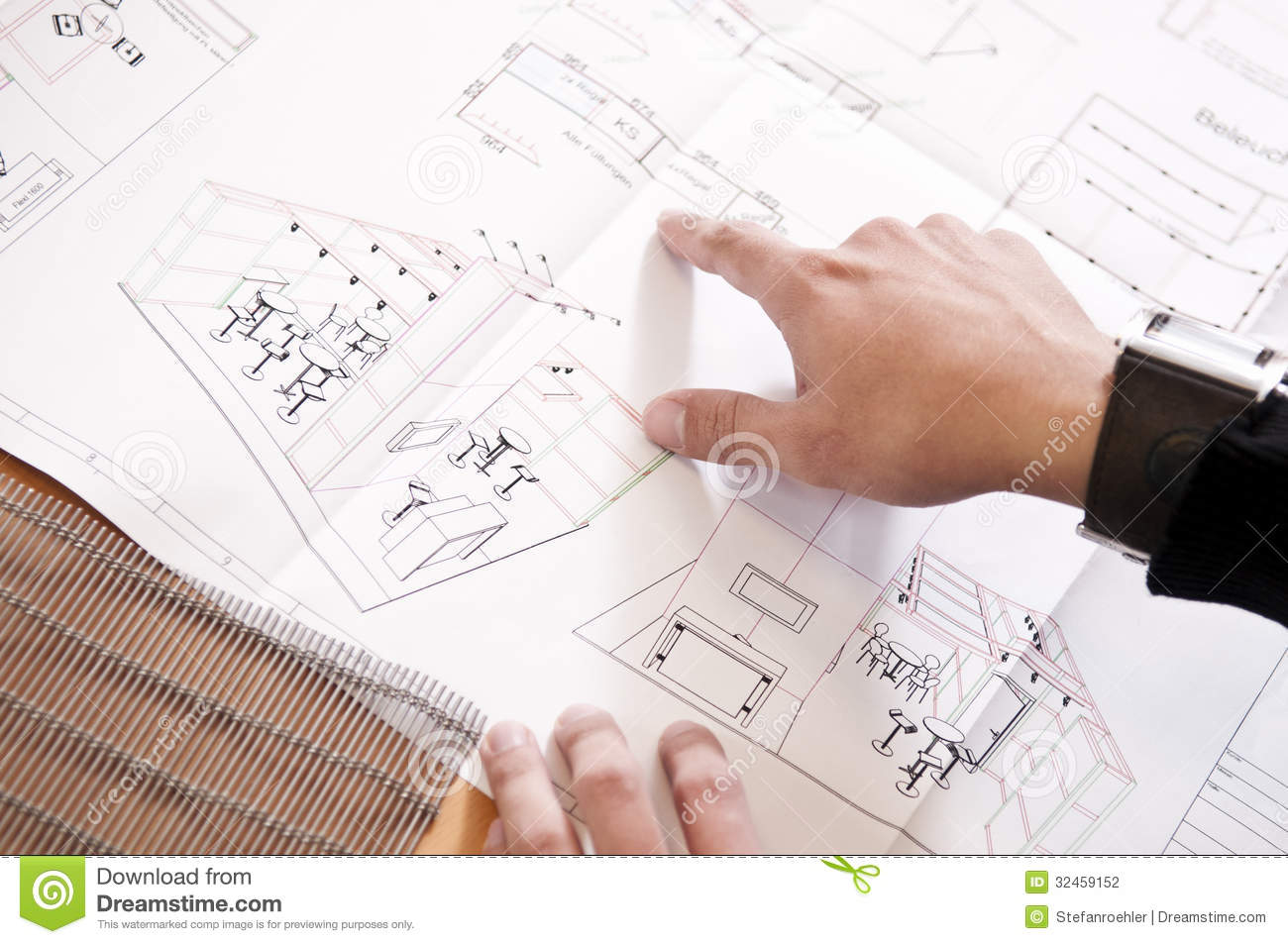 Exhibition Stand Design Drawings : Floor plan of an exhibition stand stock photo image of