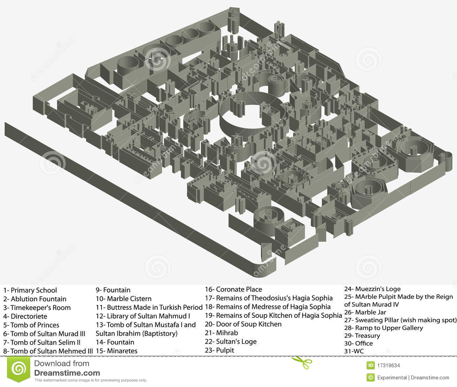 Floor plan of hagia sophia museum stock images image for 1919 sophia floor plan