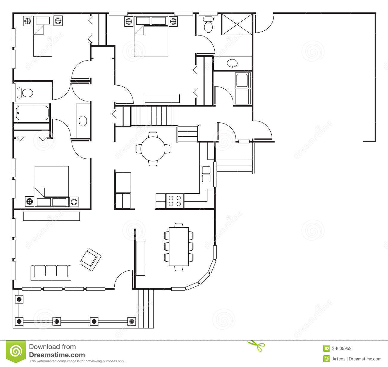 Floor plan house stock photo image of estate blueprint for Stock floor plans