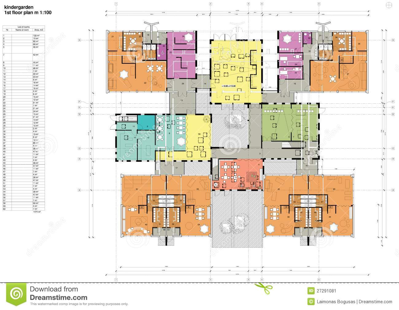 Free House Floor Plans Floor Plan Of The Kindergarten Stock Image Image 27291081