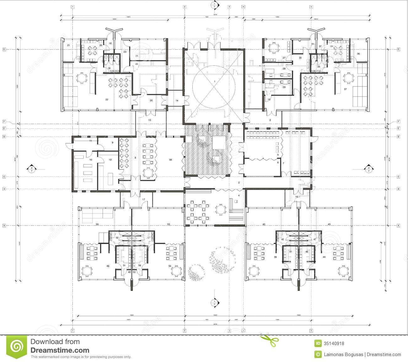 Floor plan of the kindergarten stock illustration illustration of ground illustration 35140918 - Floor plans for free paint ...