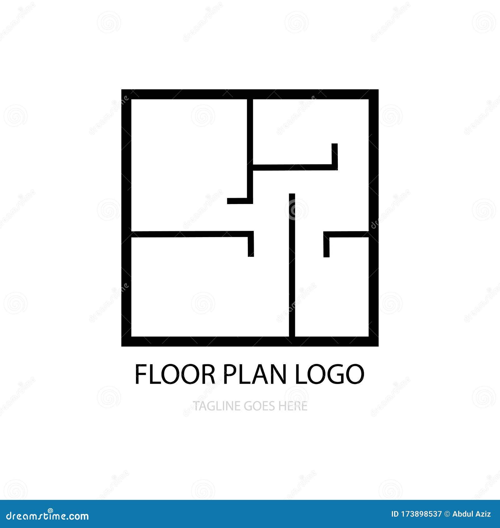 Floor Plan Logo Vector Stock Vector Illustration Of Realty 173898537