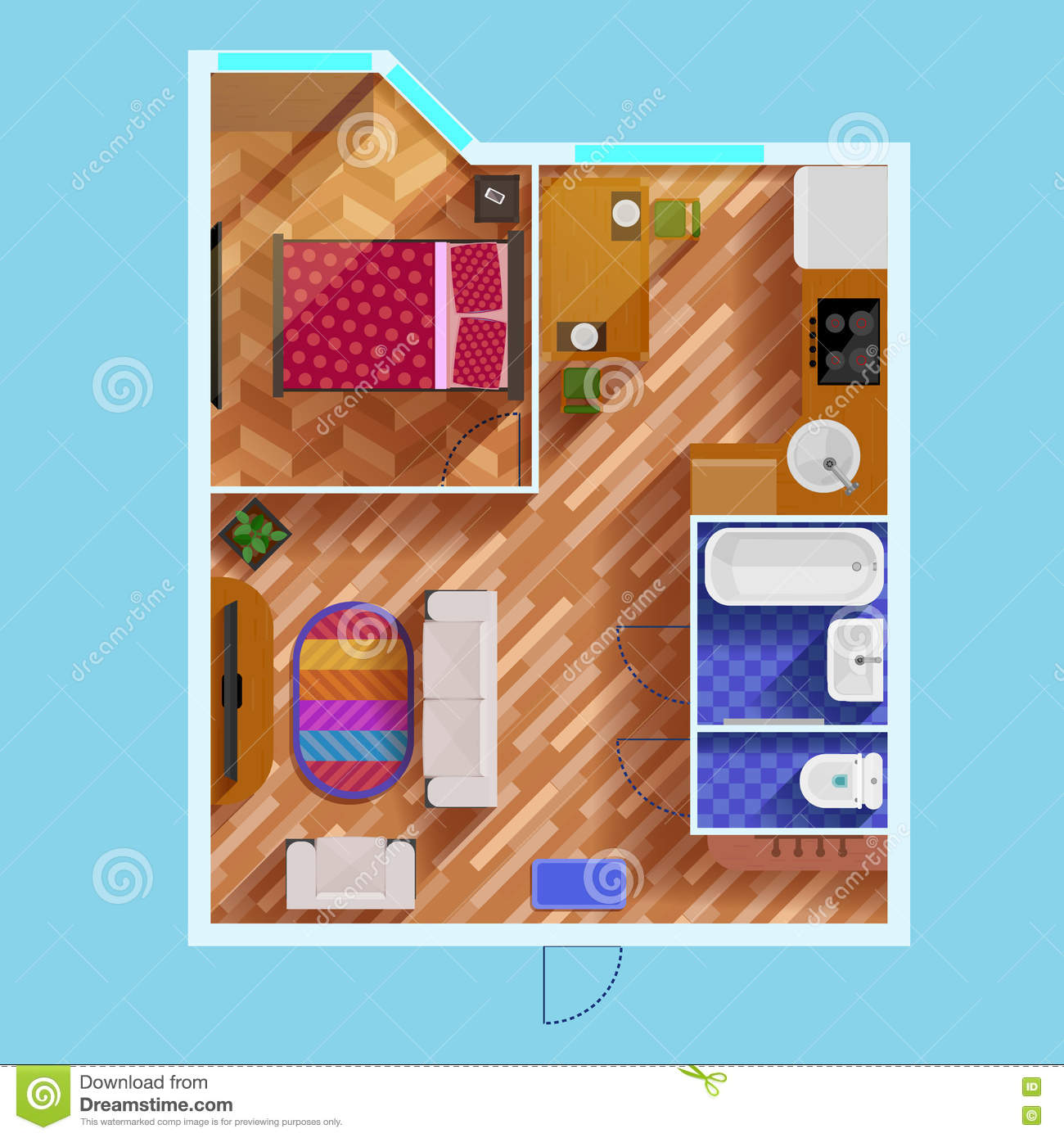 floor plan furniture collection stock image image 20103421