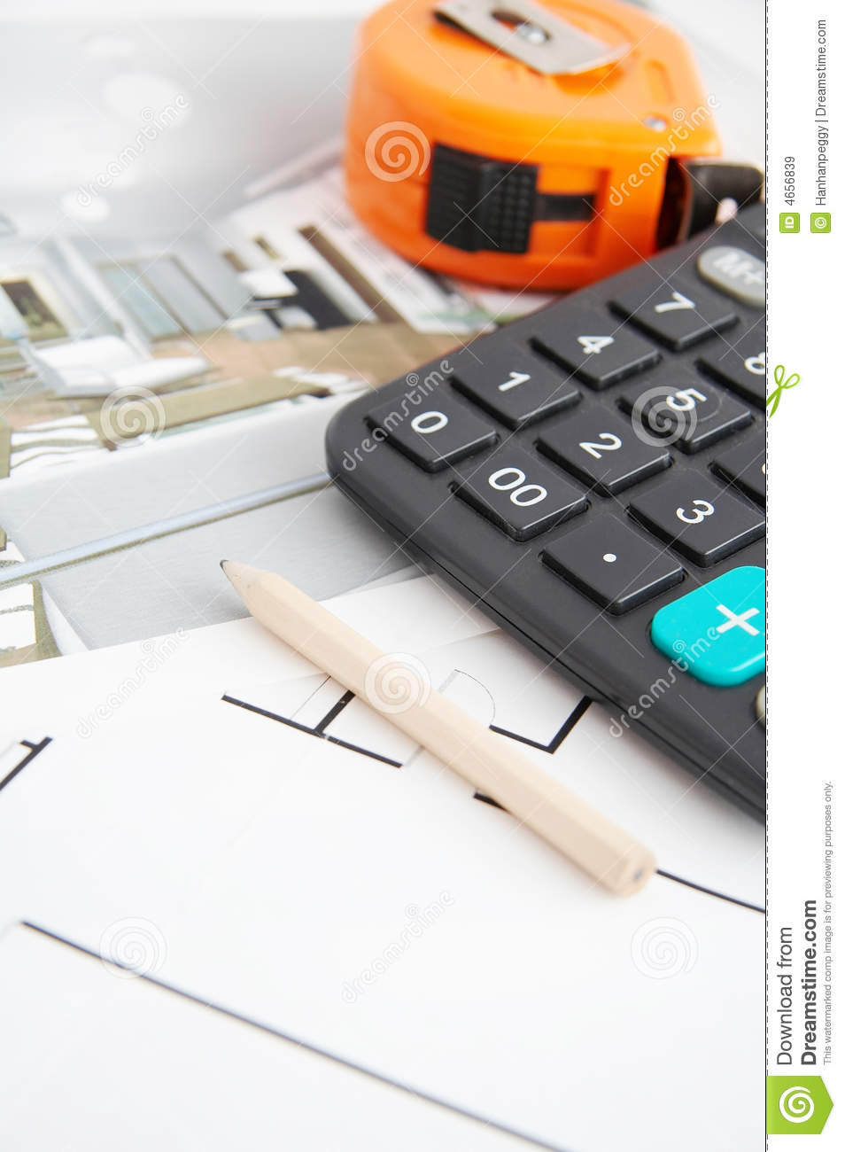 Floor plan and tools royalty free stock images image for Carpet planner tool